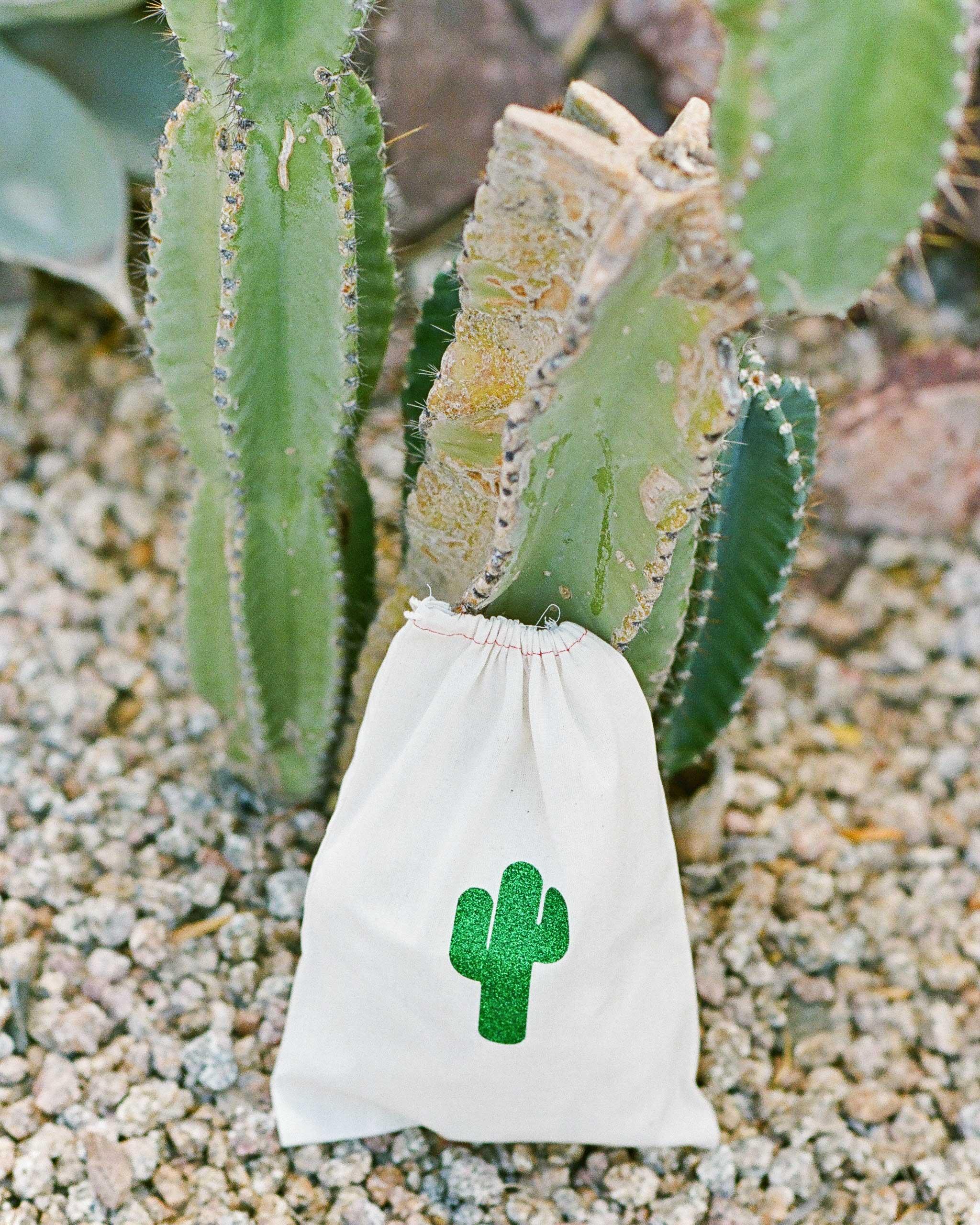 addie alex wedding cacti pouch