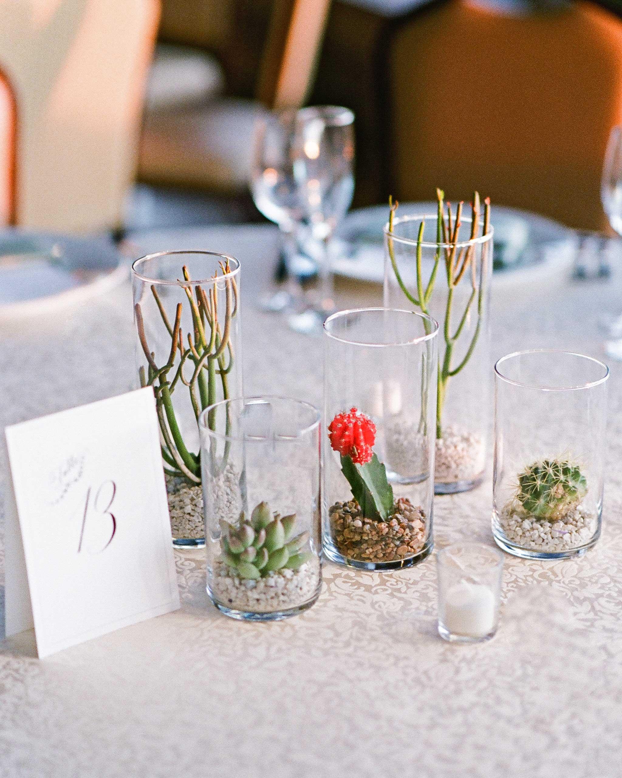 addie alex wedding centerpieces cacti