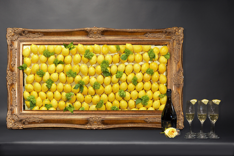 citrus centerpiece lemon frame