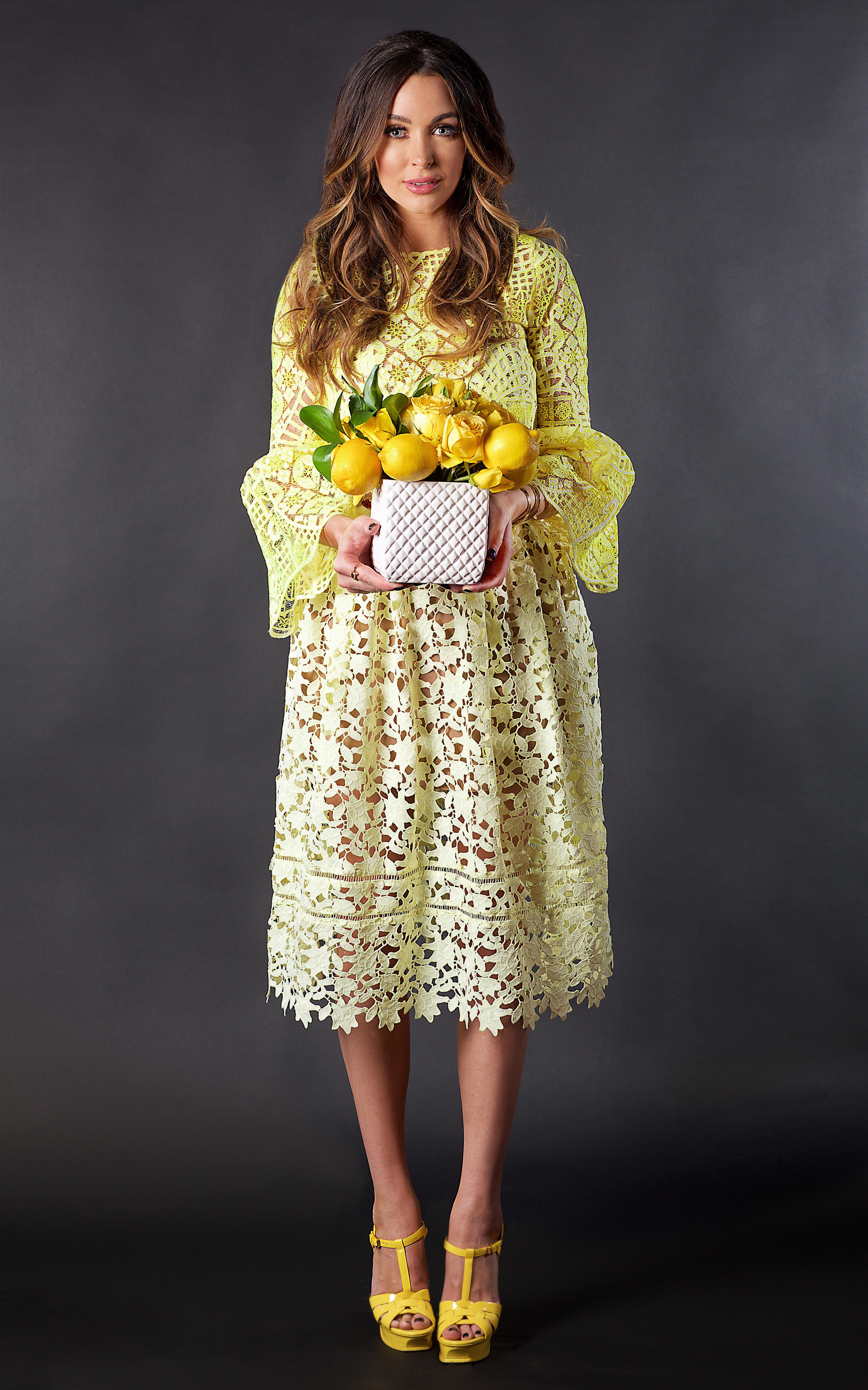 citrus centerpiece yellow lemons