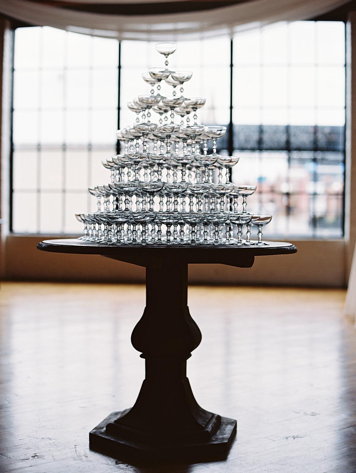 joanna jay wedding champagne tower