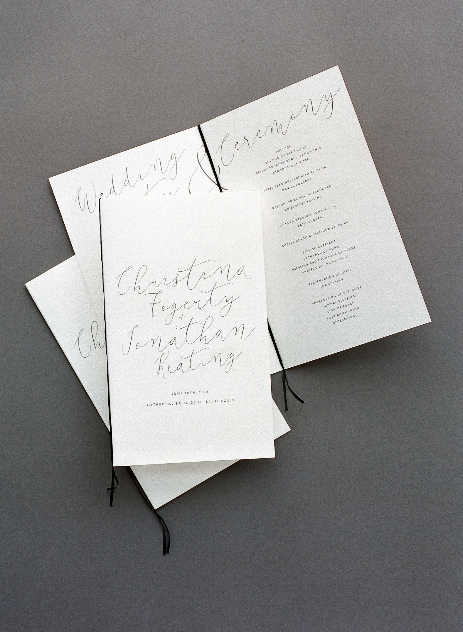 wedding program detail