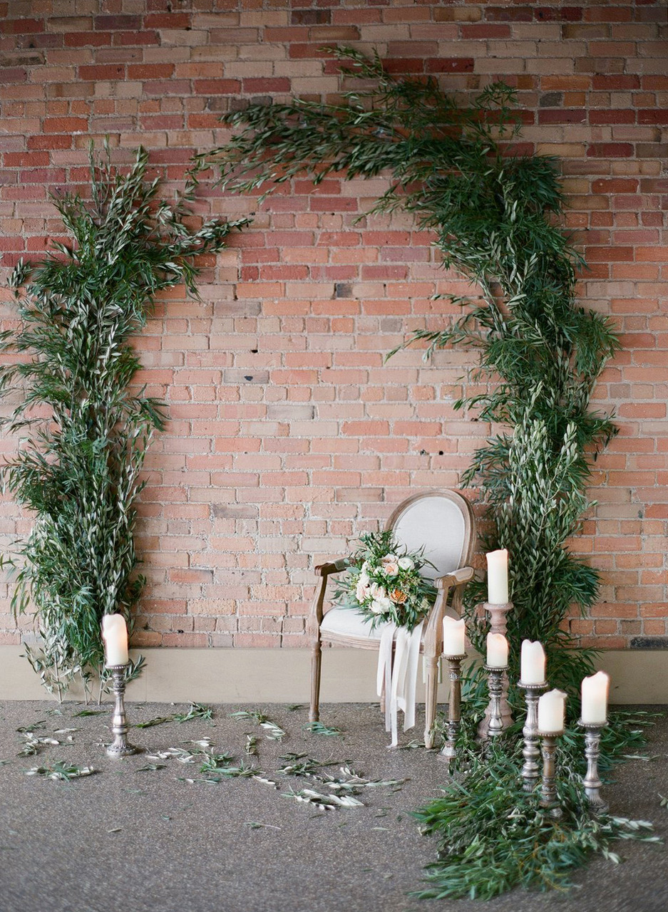 greenery arch photo booth