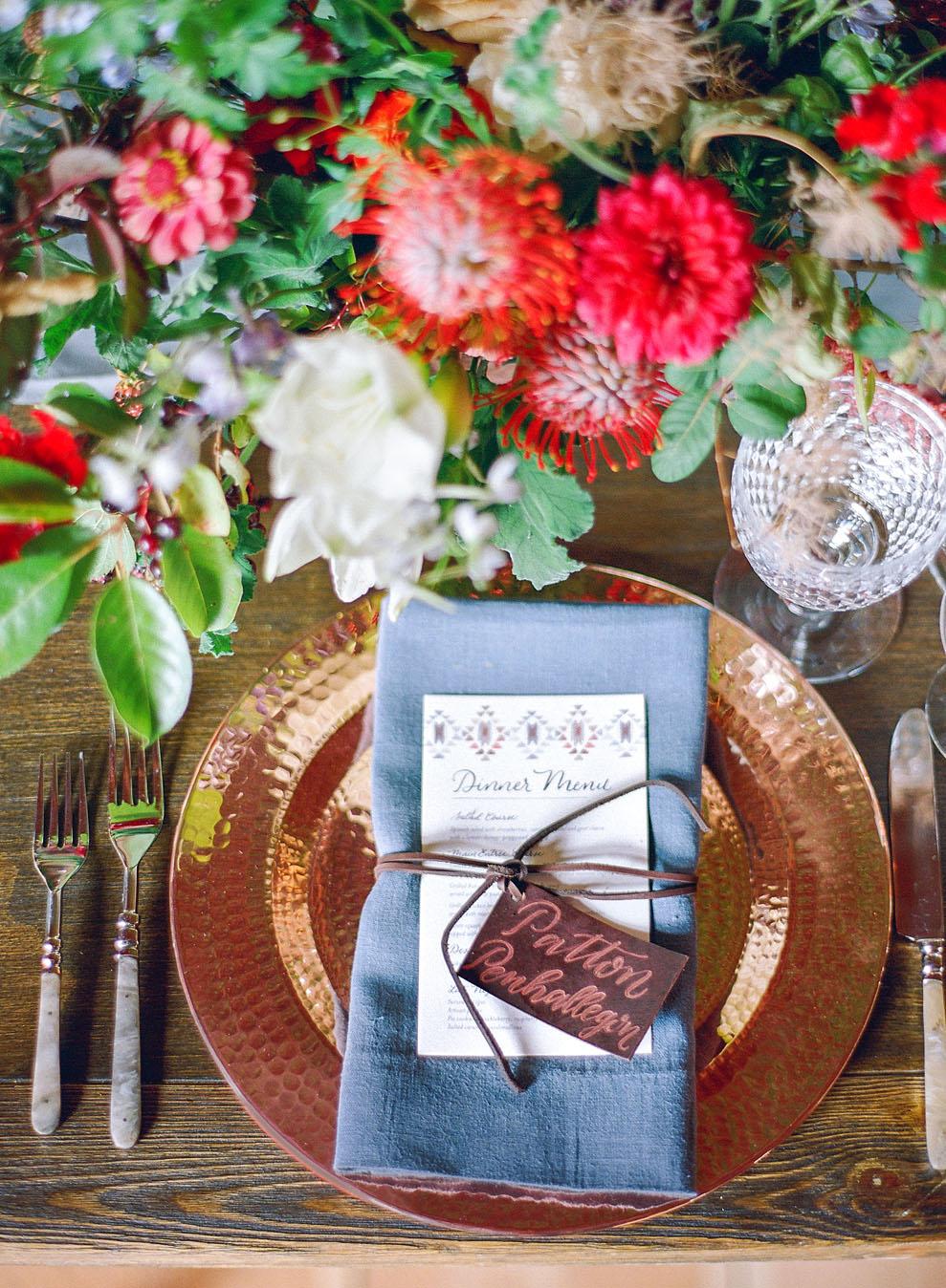 emily patton wedding montana table setting