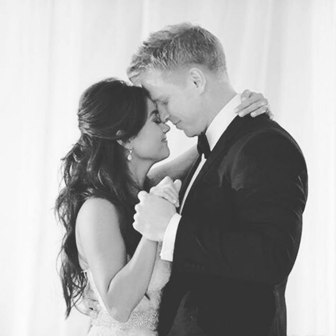 Sean and Catherine Lowe on their wedding day