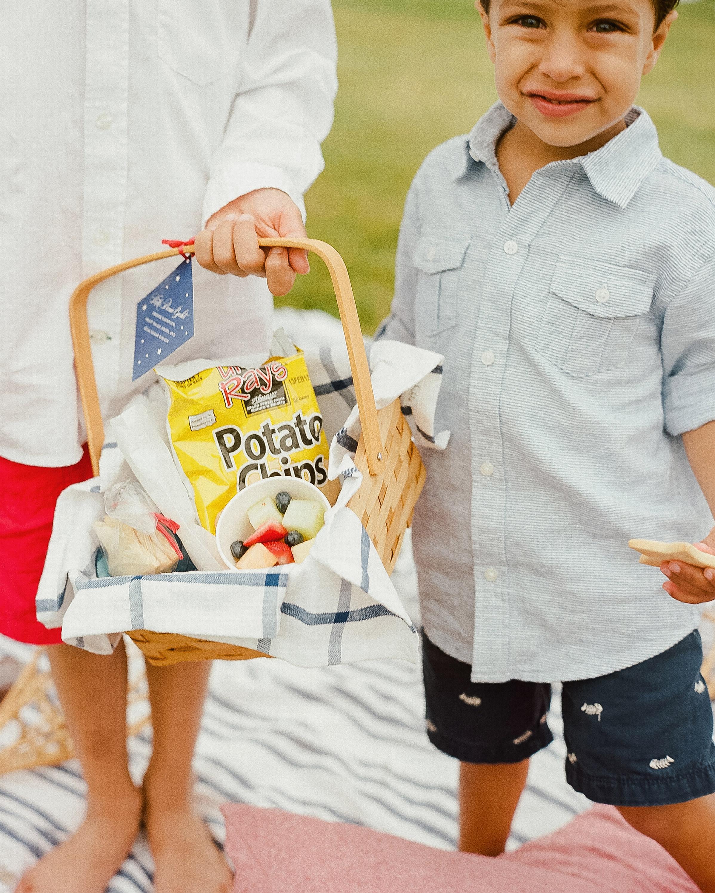 patriotic party picnic basket boy