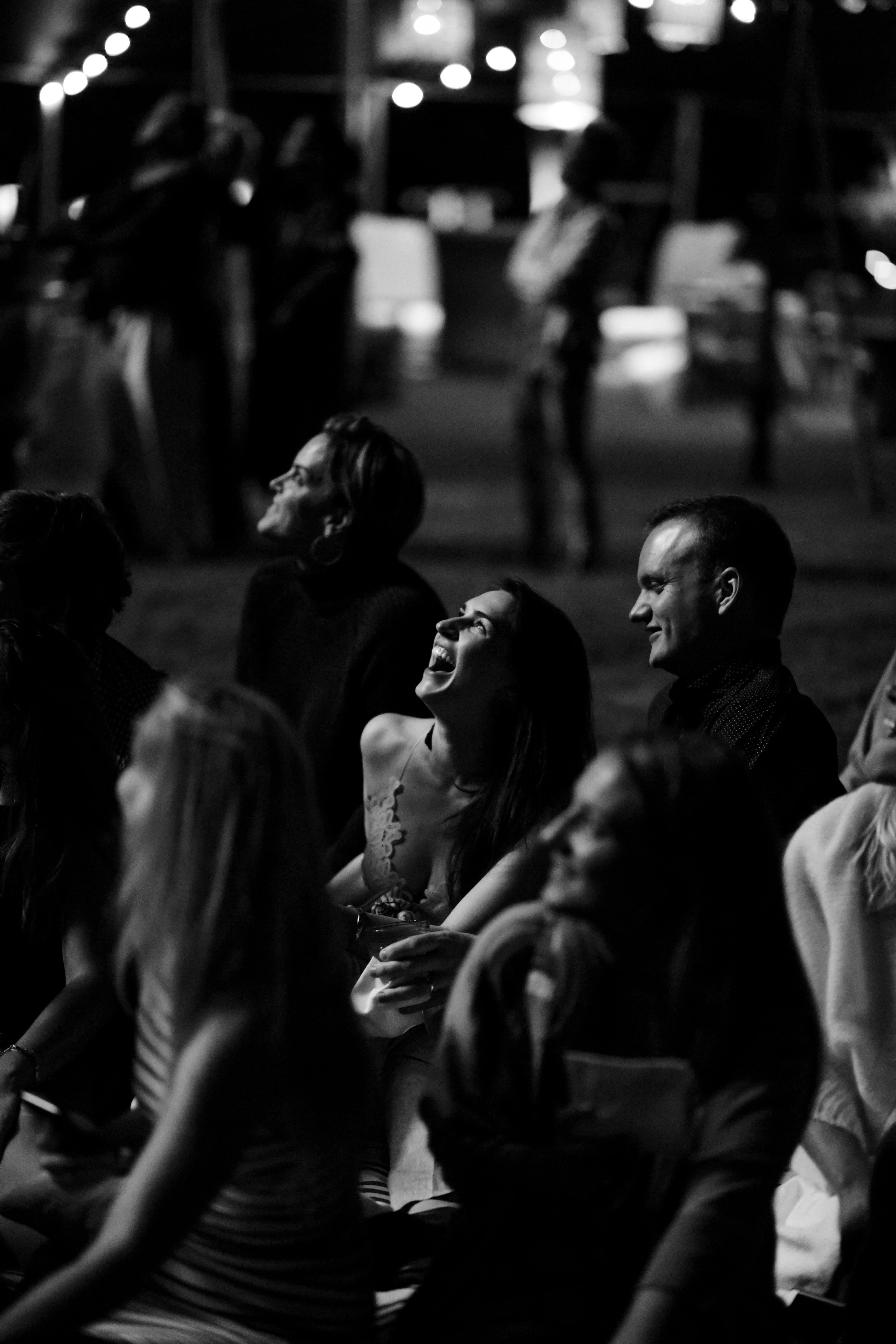 crowd watching fireworks patriotic party
