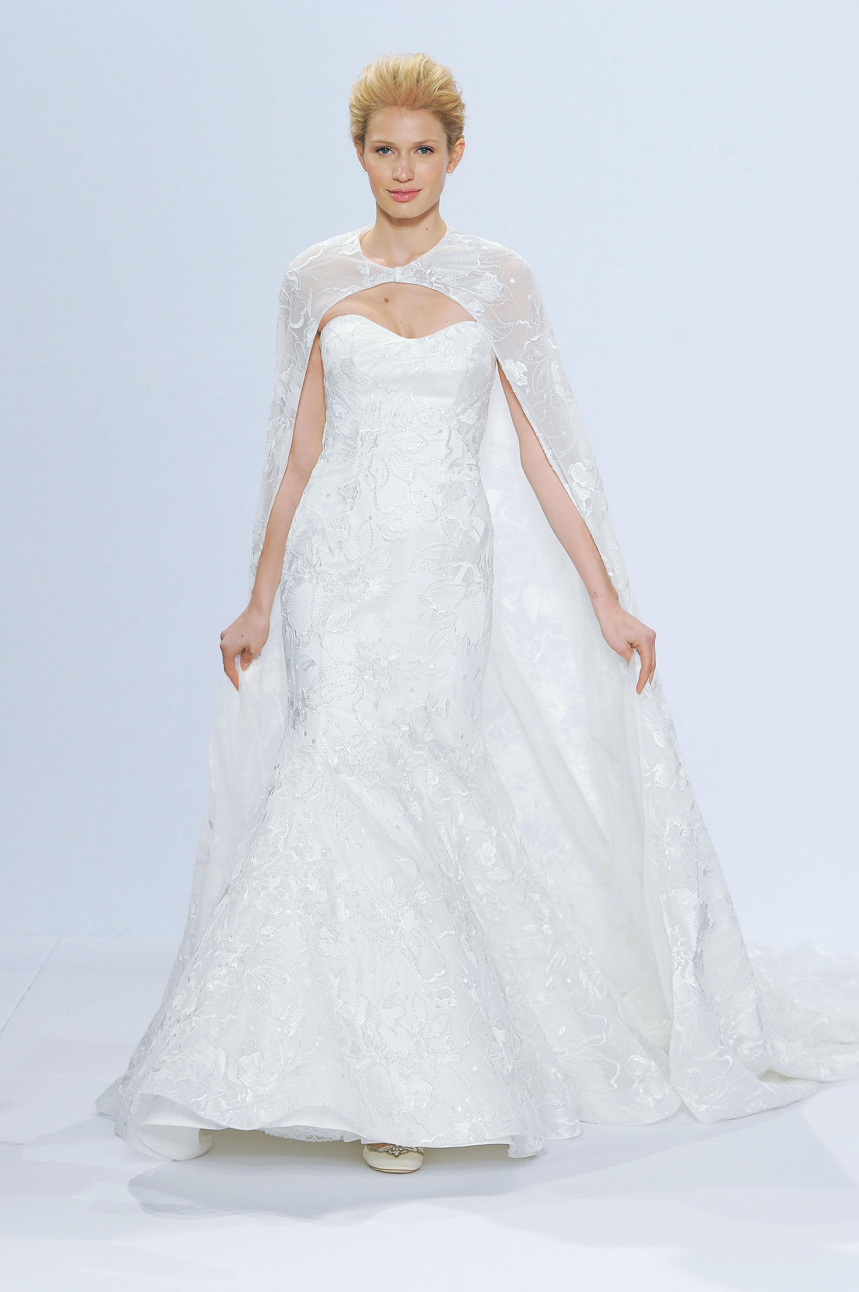 randy fenoli wedding dress with cape spring 2018
