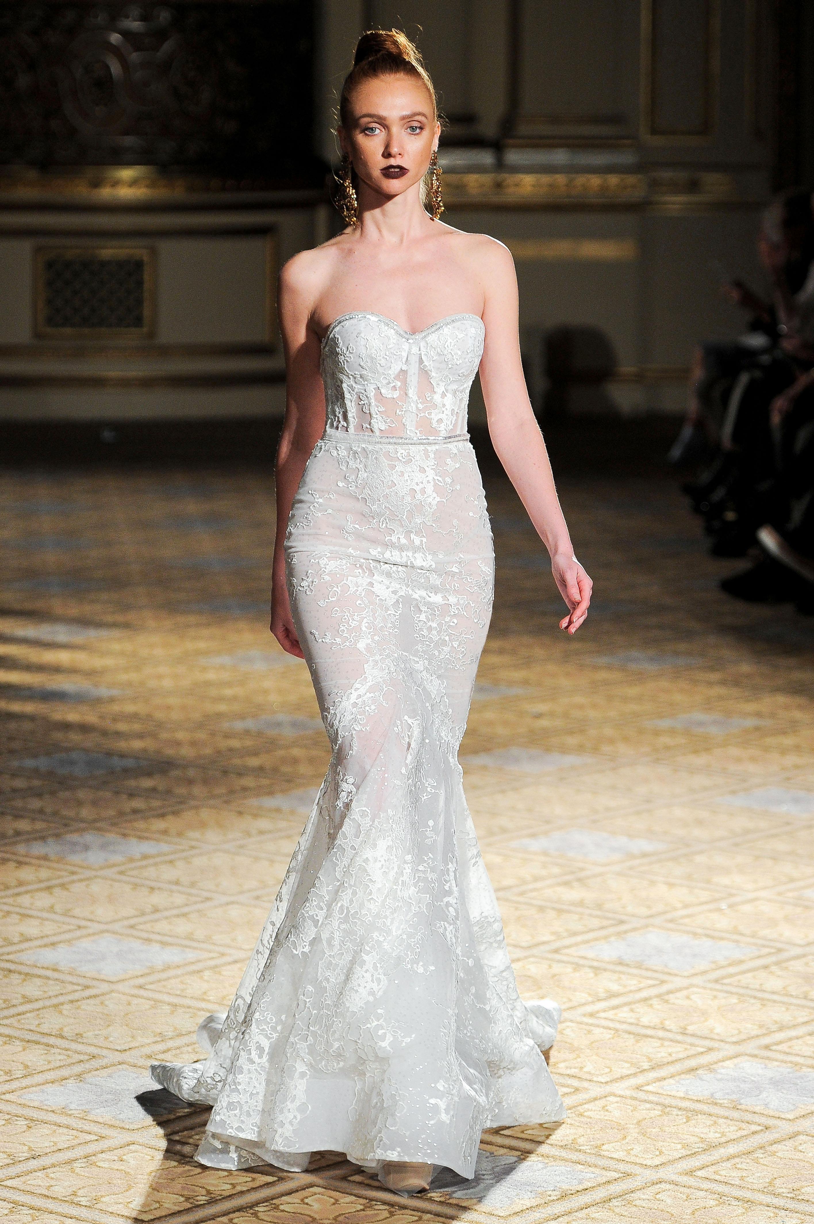 berta sweetheart sparkly mermaid wedding dress spring 2018