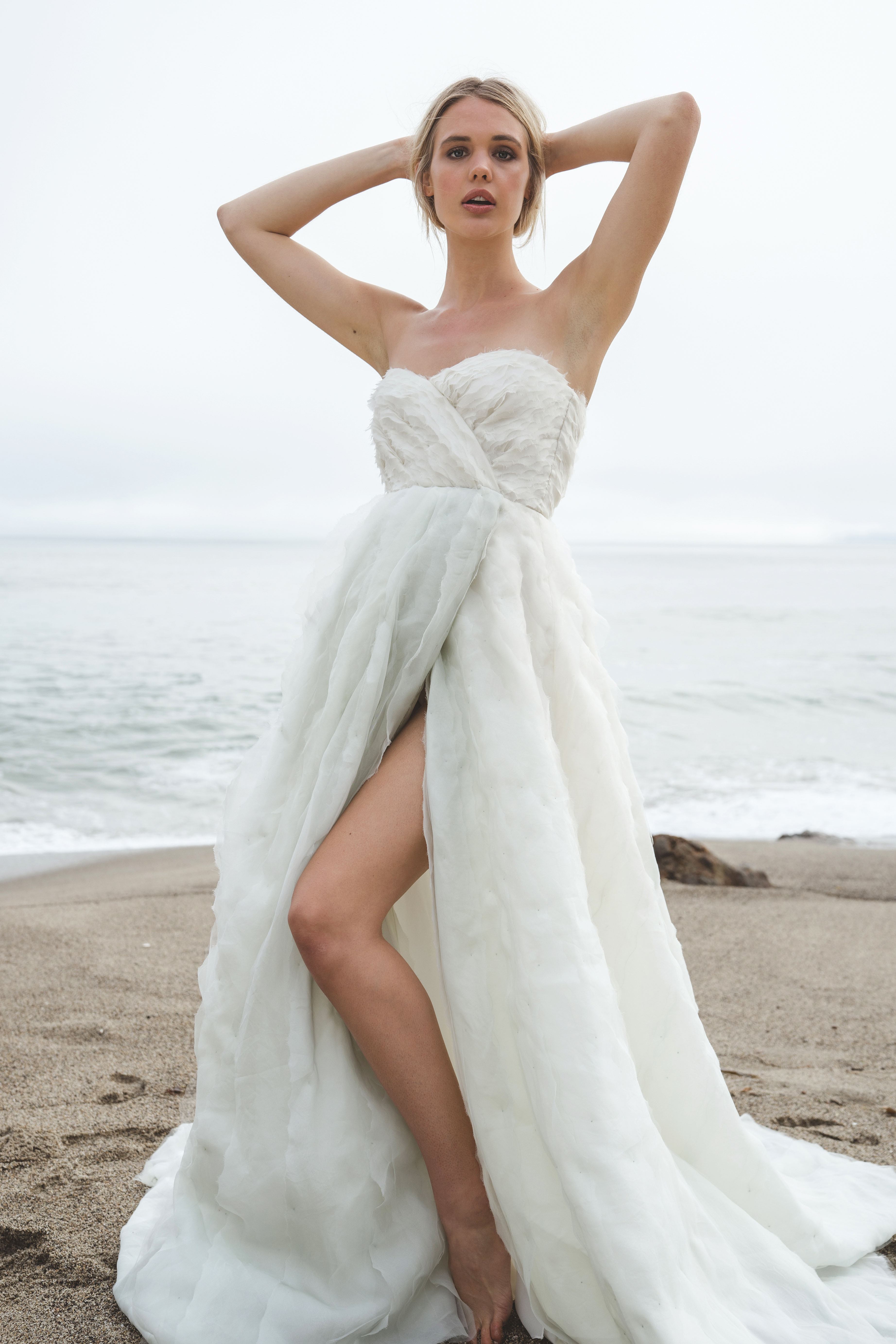 sabrina dahan strapless wrap wedding dress spring 2018