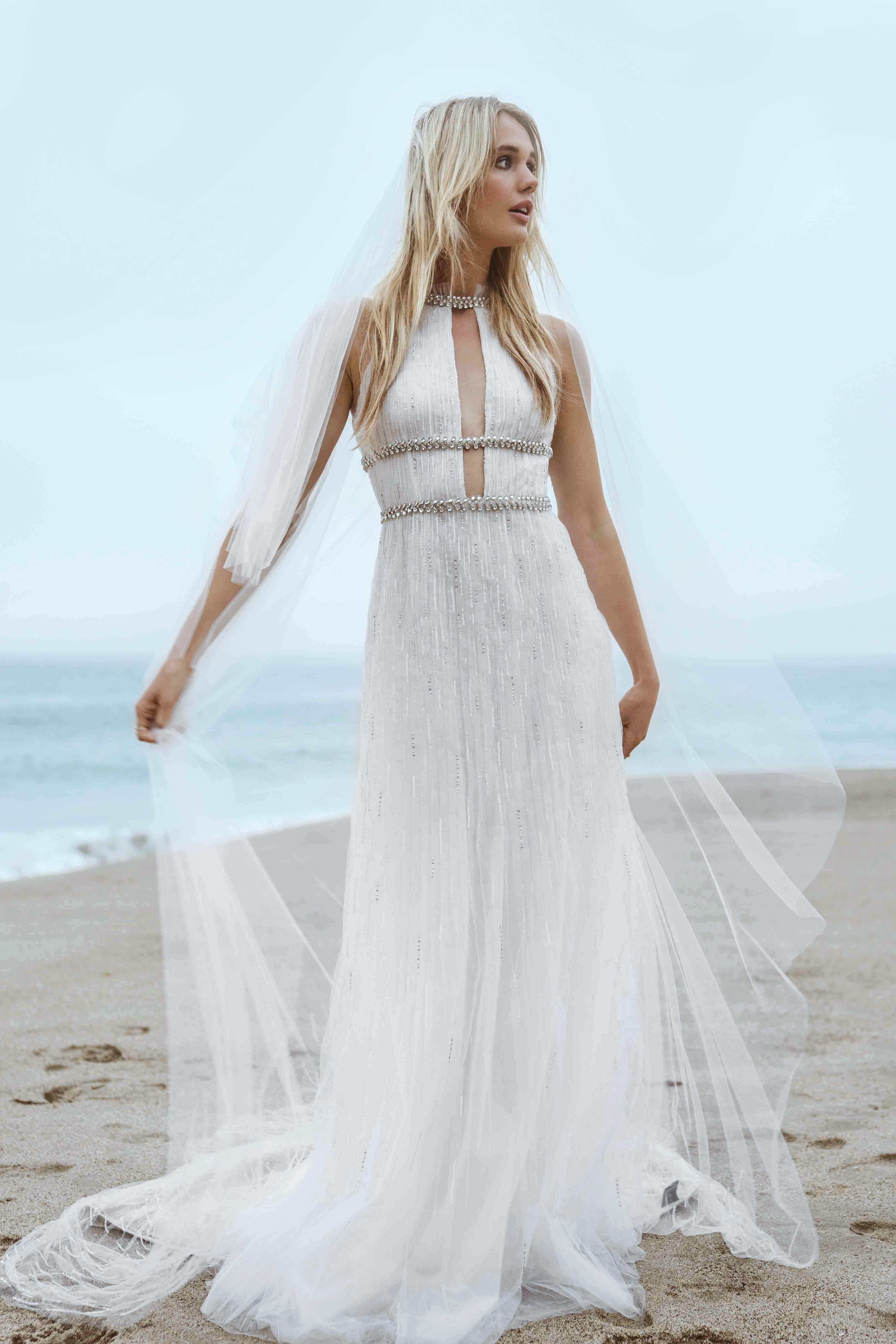 sabrina dahan embellished high neck wedding dress spring 2018