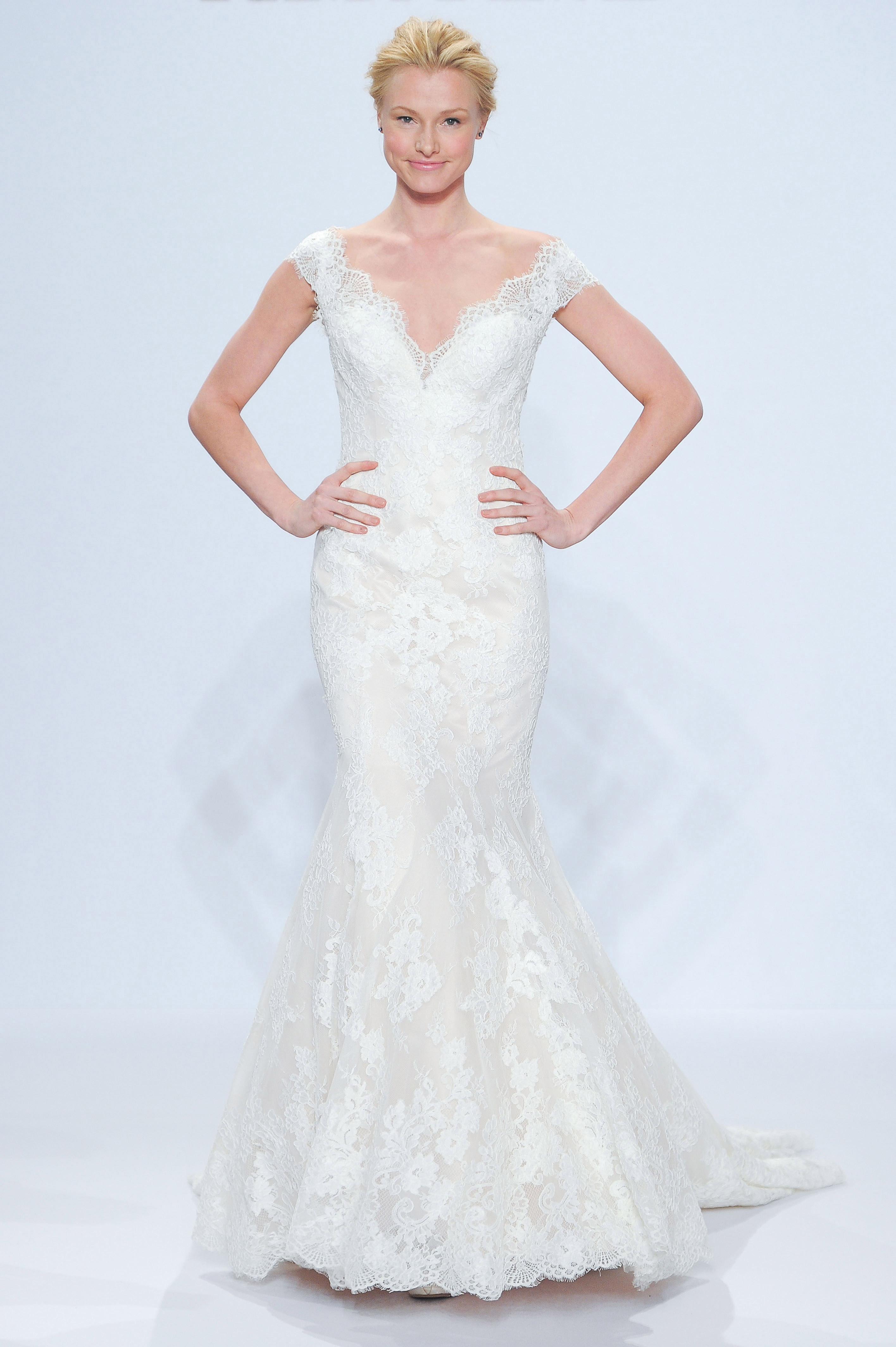 randy fenoli lace v-neck wedding dress spring 2018
