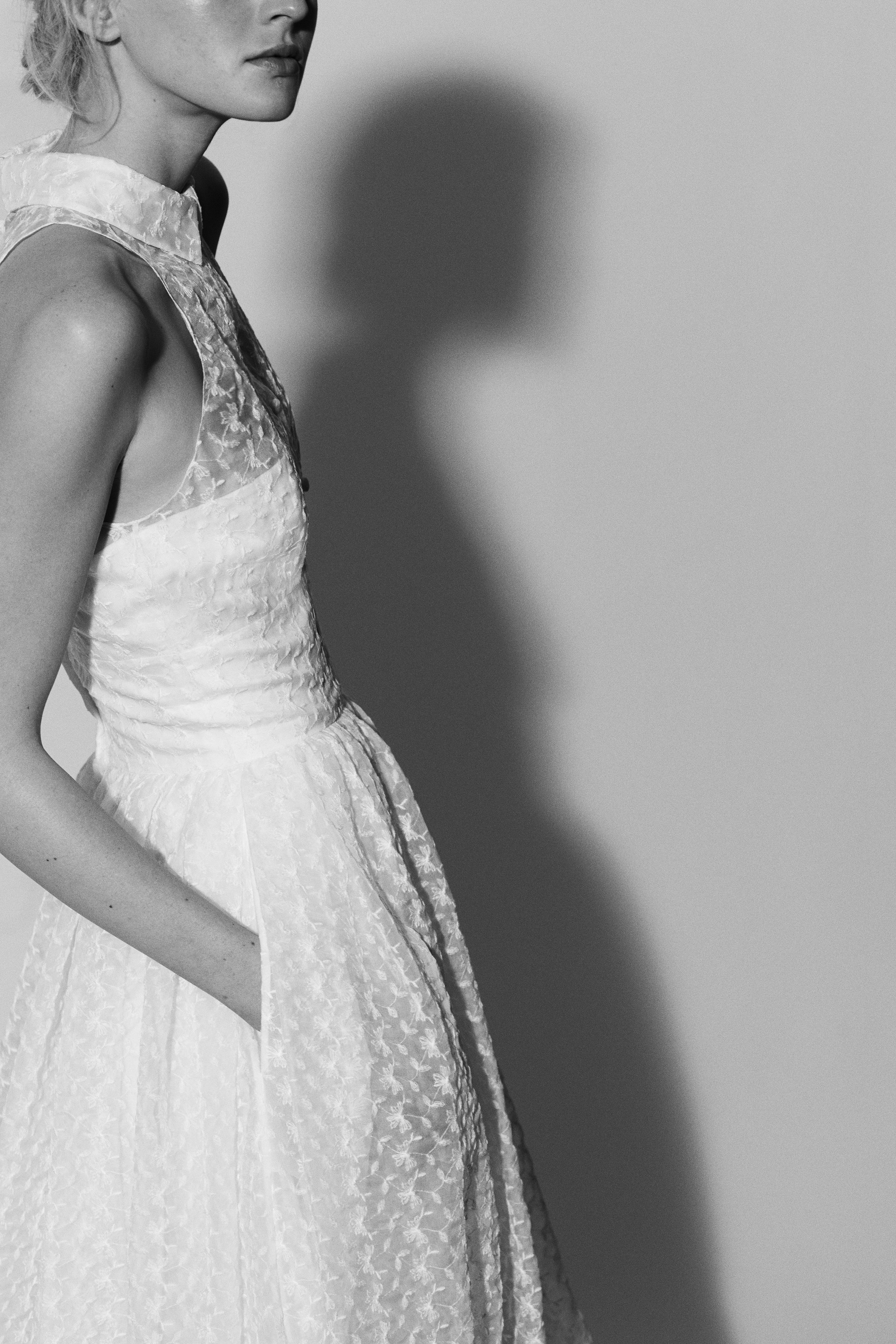 high neck with collar Carolina Herrera Wedding Dress Spring2018