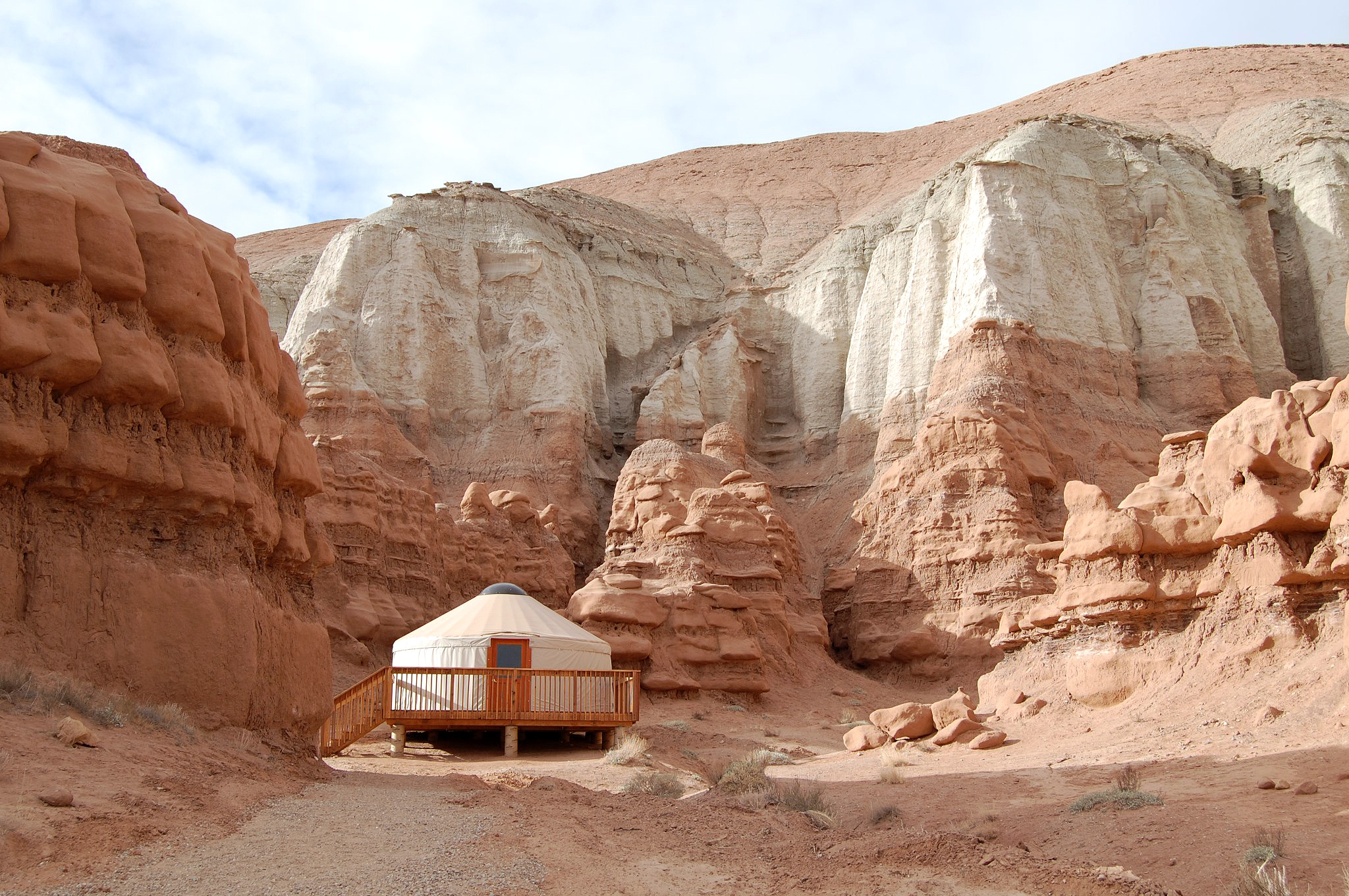yurt in canyon