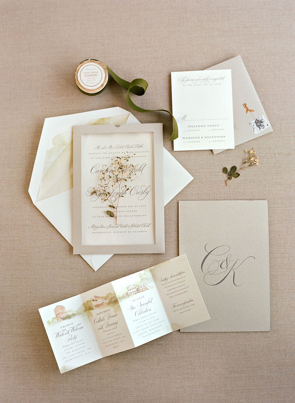 caroline kyle wedding stationery suite