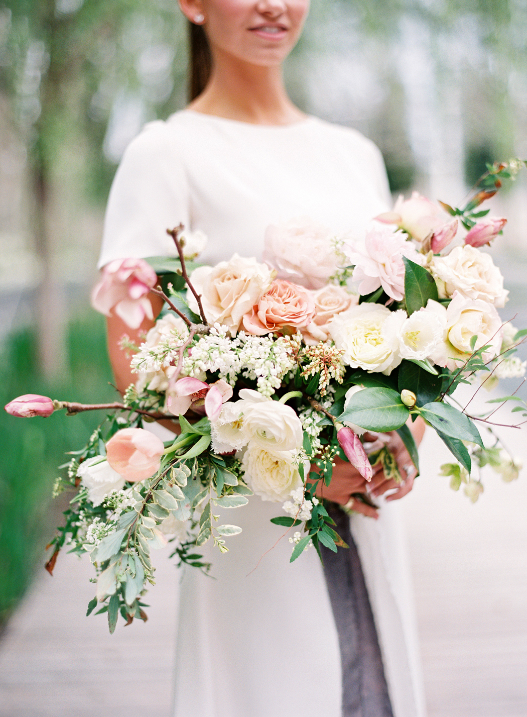 Blush, Cream, and Charcoal wedding color scheme