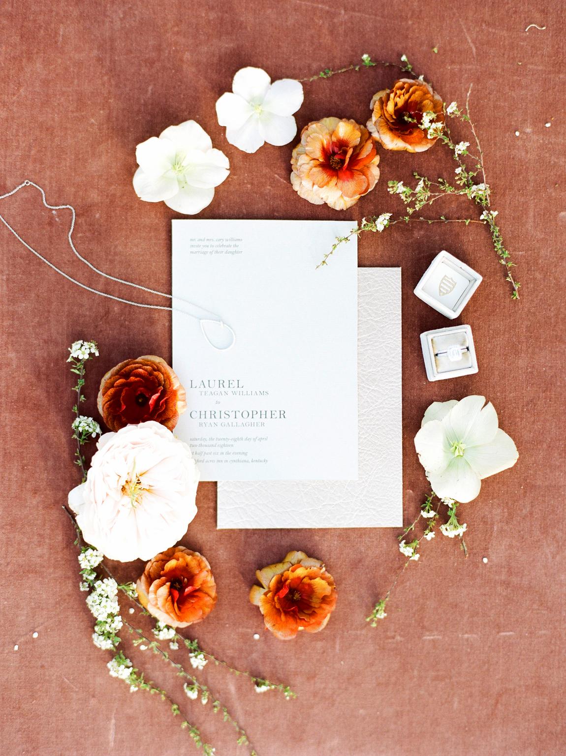 Tangerine and Marsala wedding color scheme