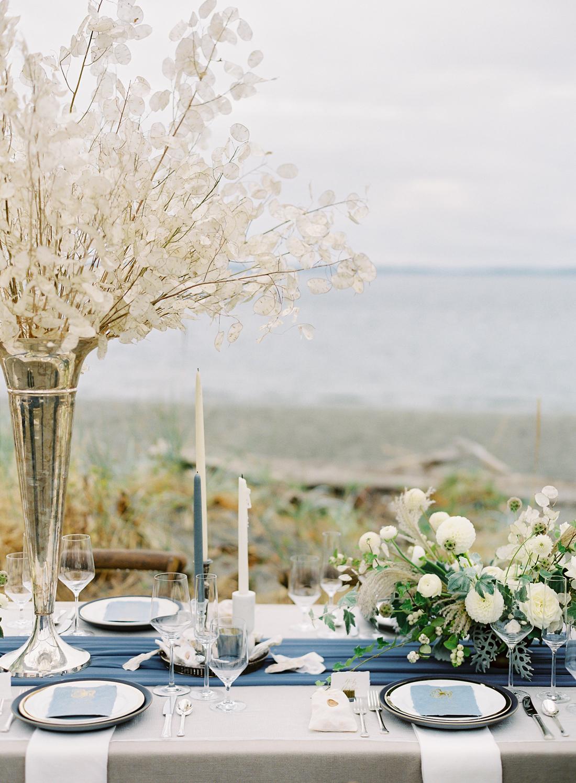 Navy, Cream, and Gray wedding color scheme