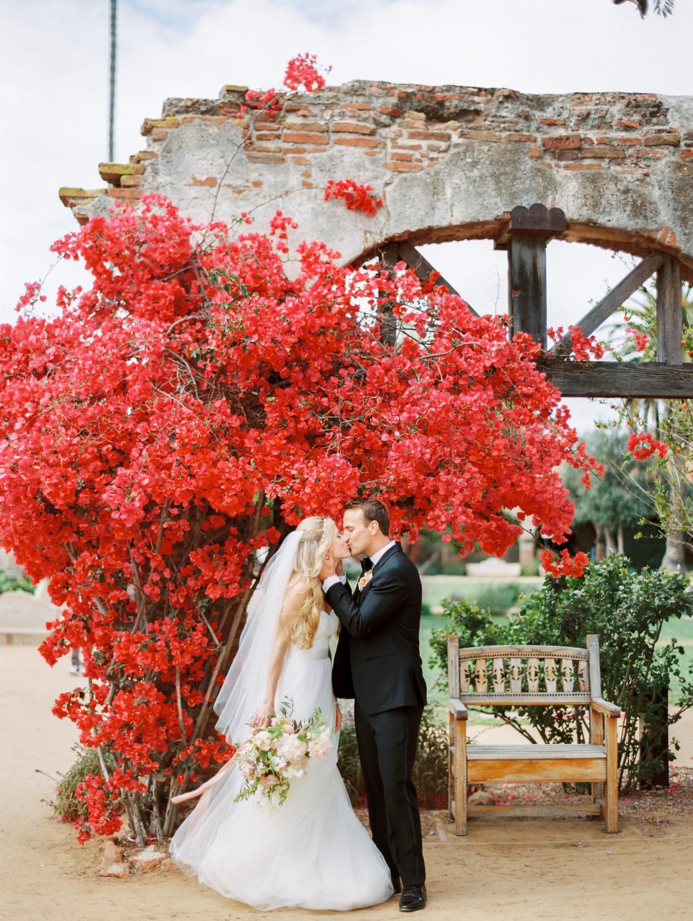 Cherry and Blush wedding color scheme