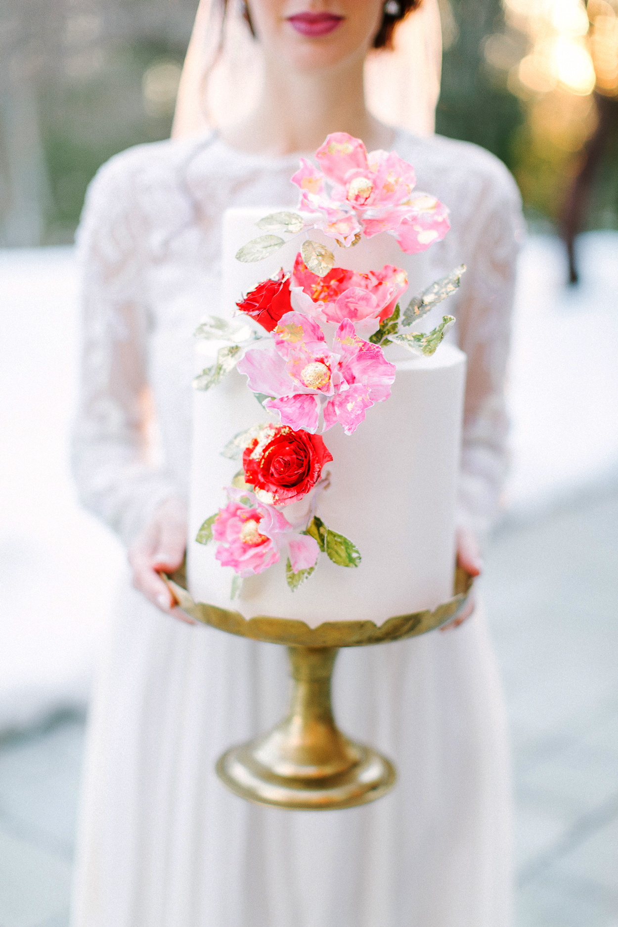 Red, Peony, and White wedding color scheme