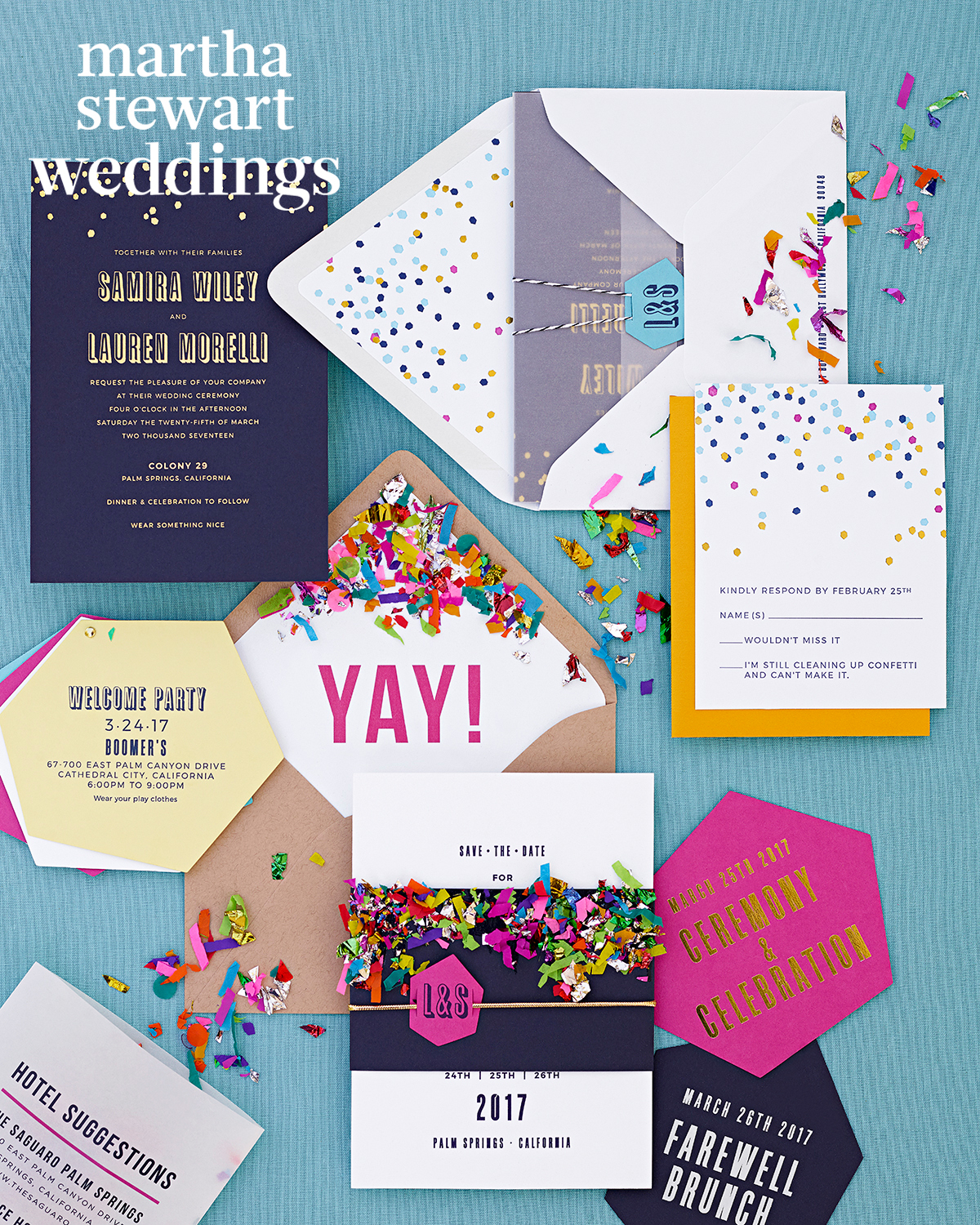 Confetti-Filled Stationery