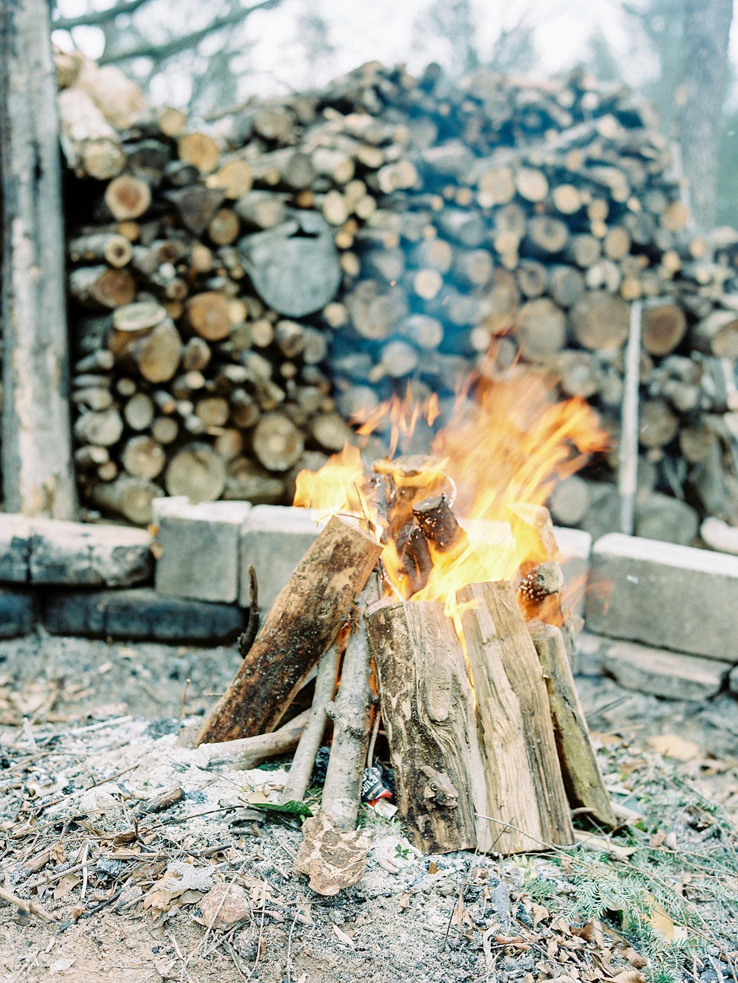 wedding fire