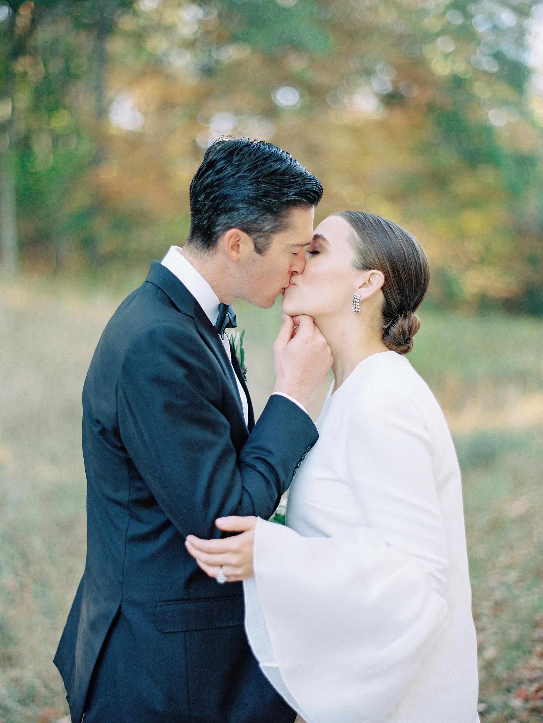 wedding couple kiss