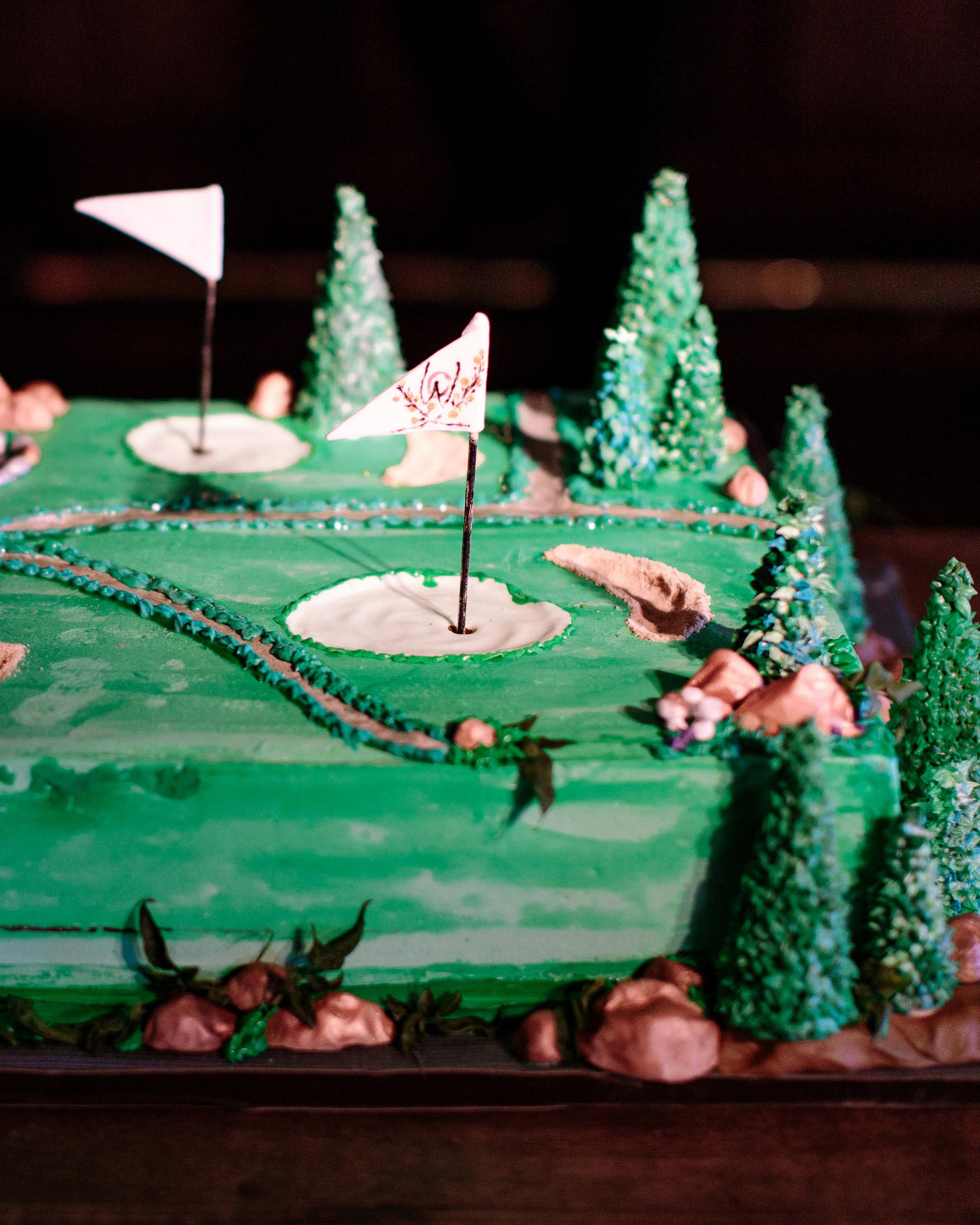 grooms cake golf