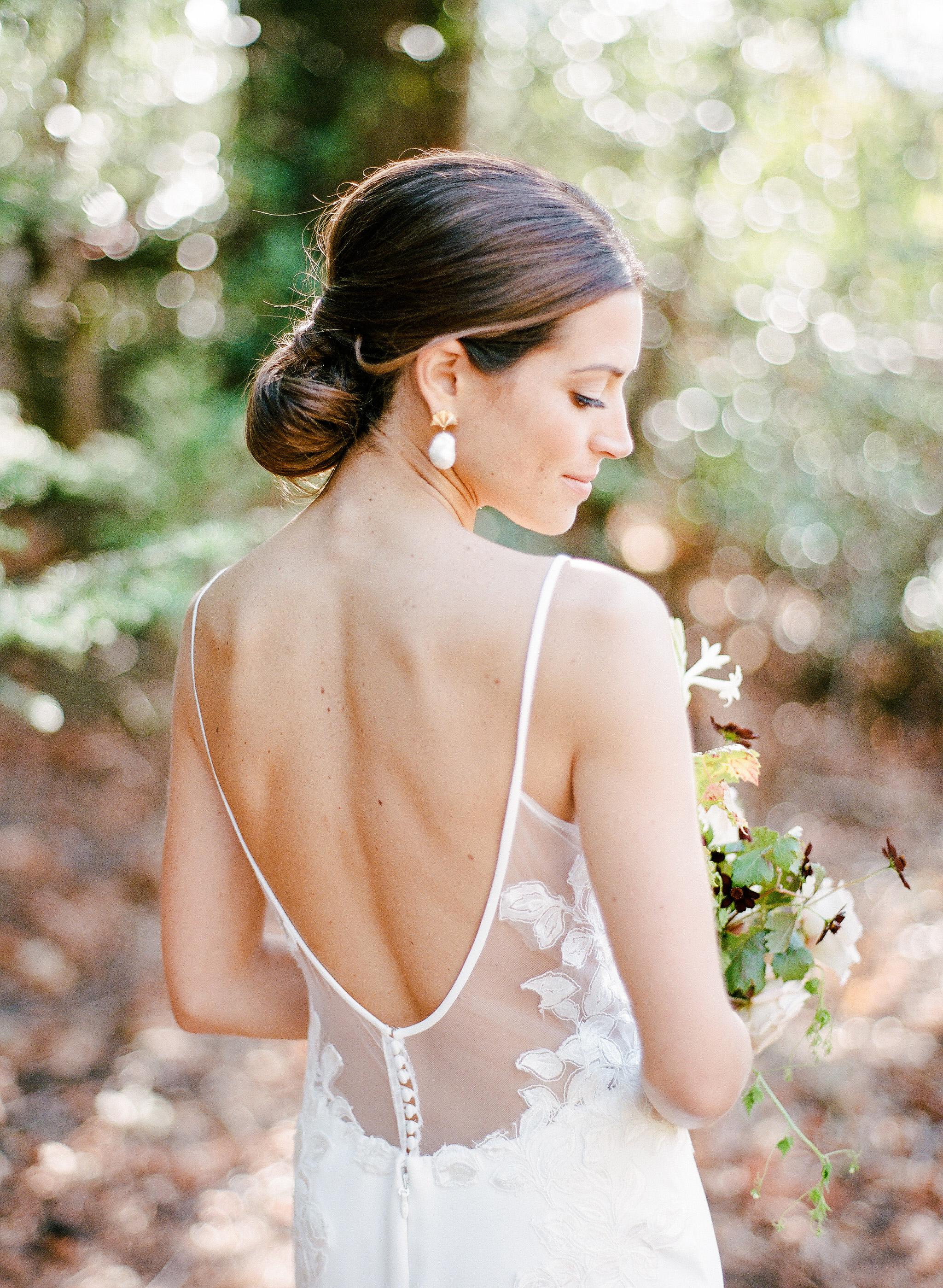 cristina chris wedding bride back of dress