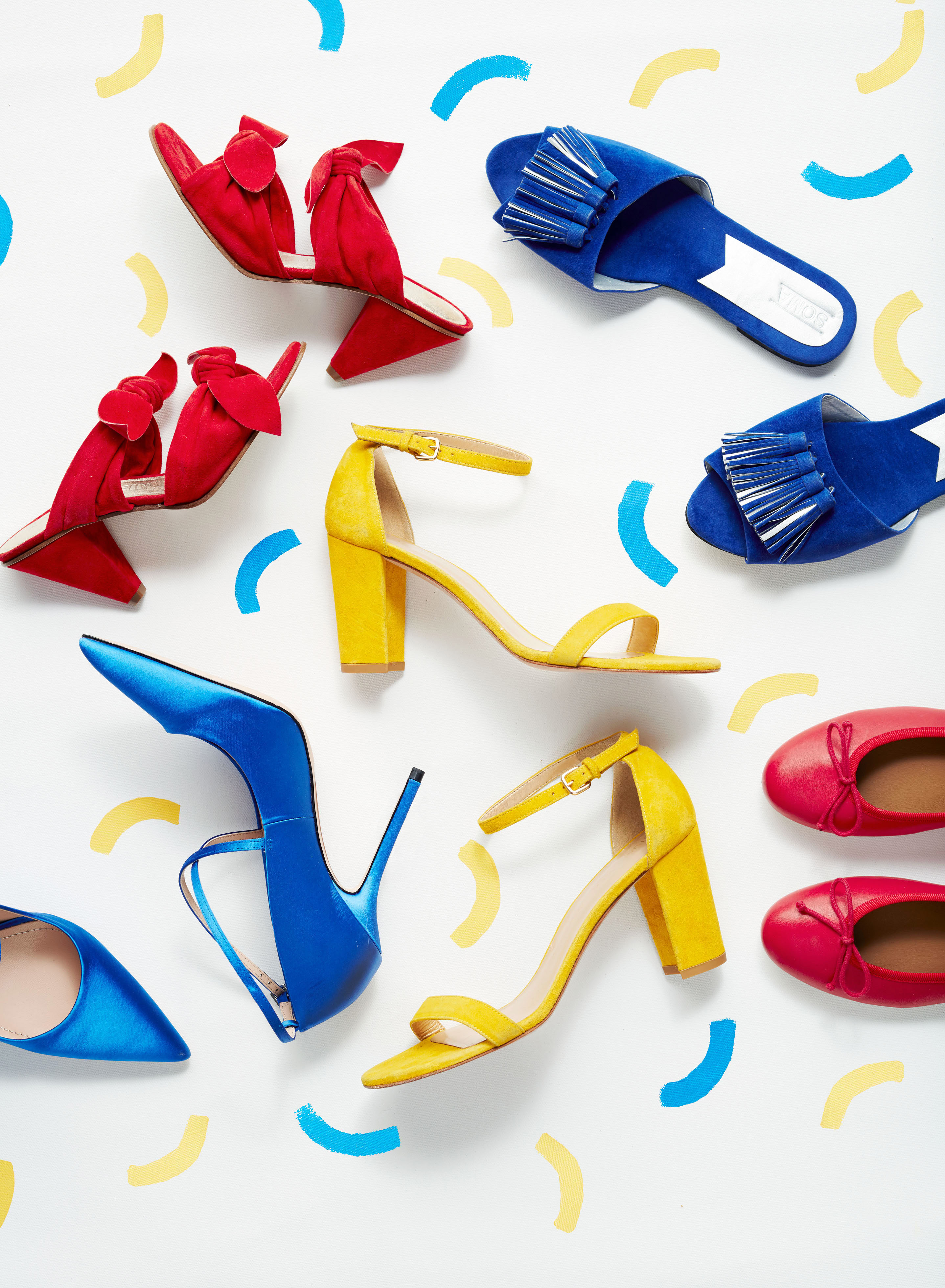 primary color heels