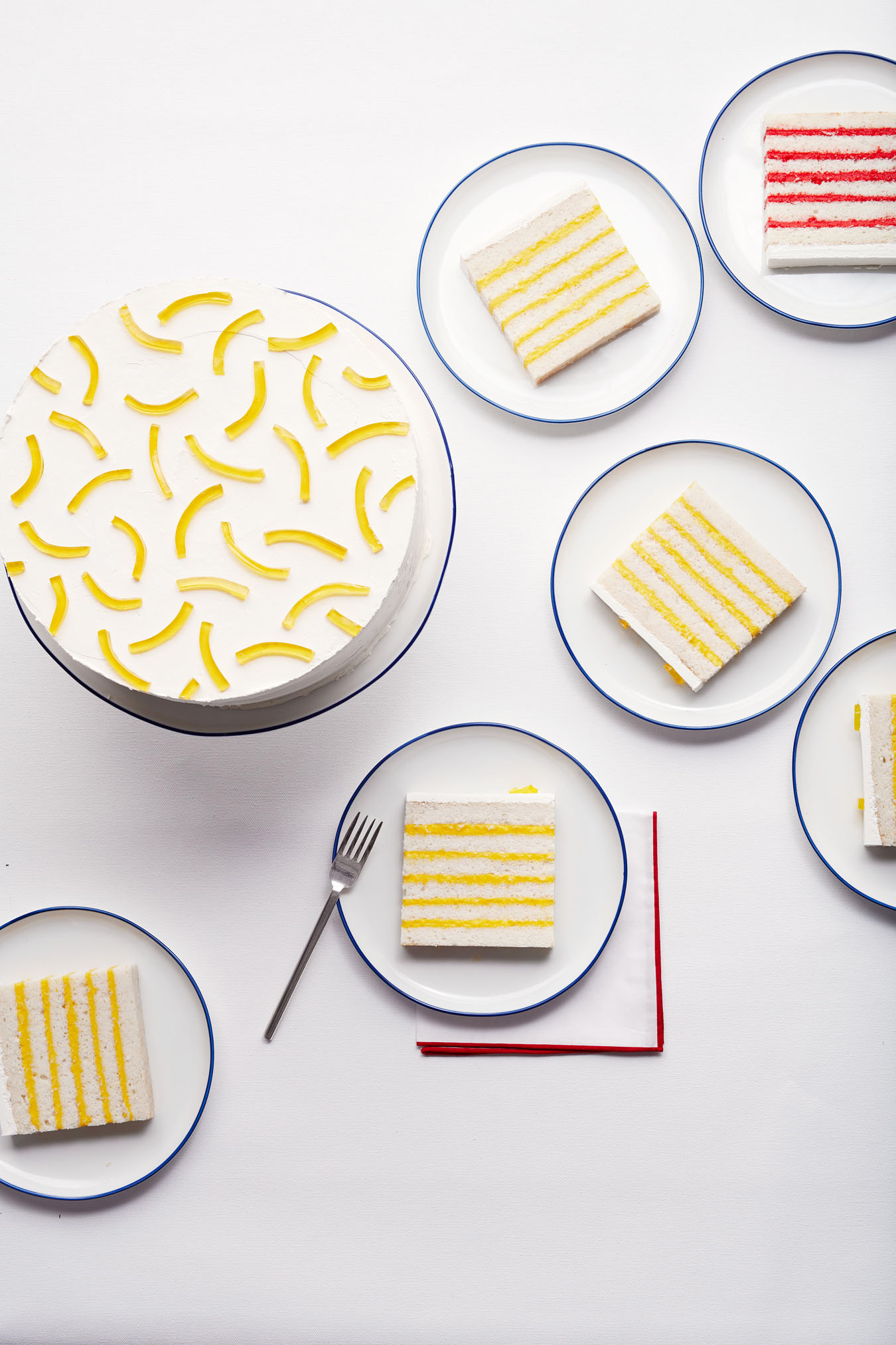 lemon-stripped cake