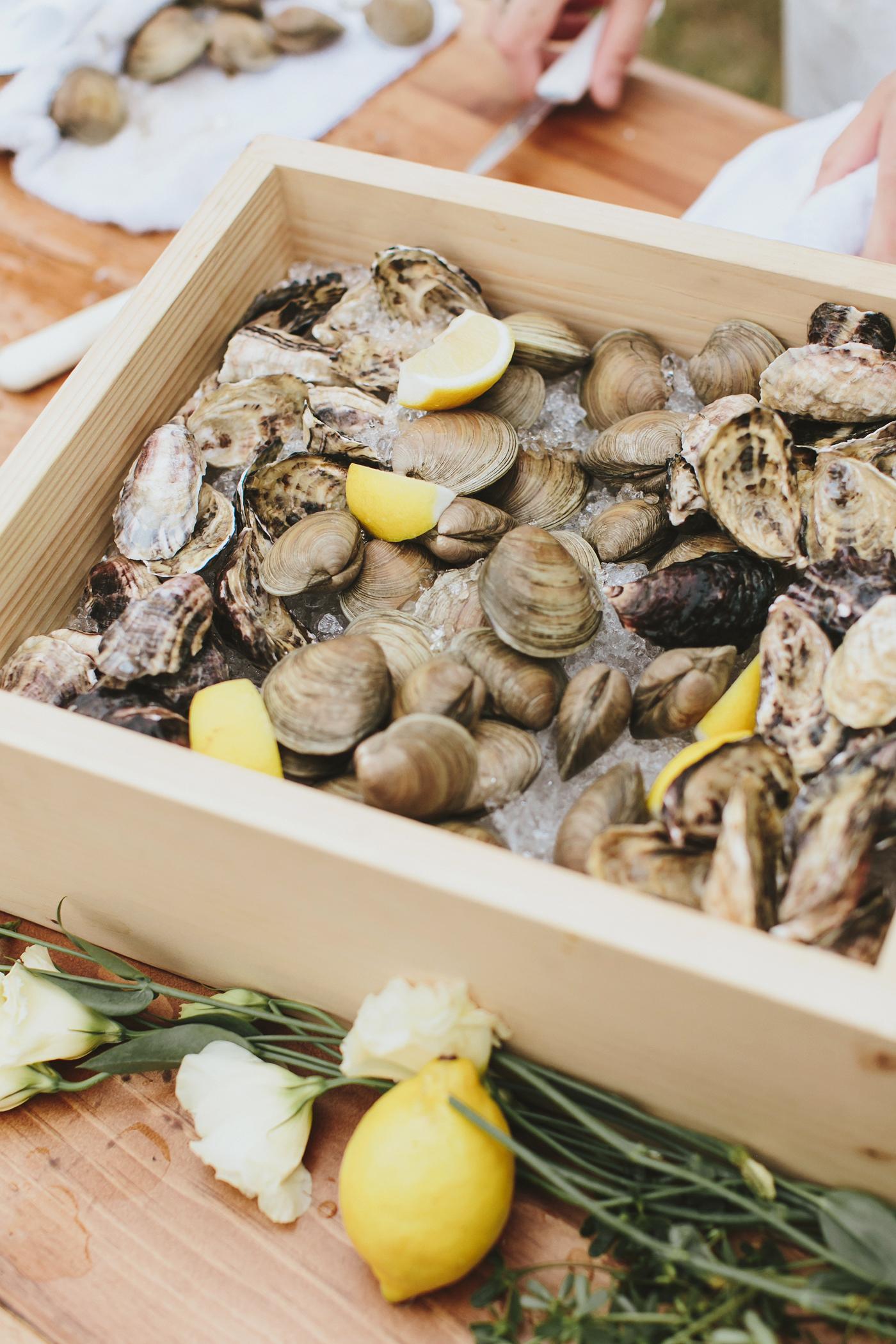 hadley corey wedding oysters