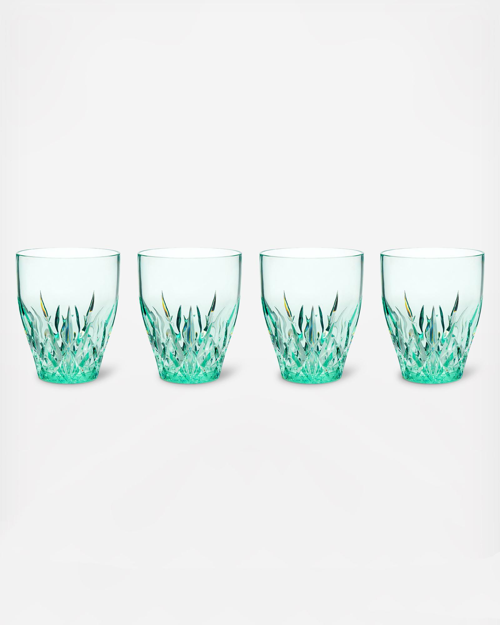 zola q squared aurora tritan plastic stemless wine tumblers