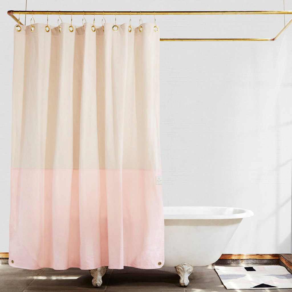 pink registry shower curtain