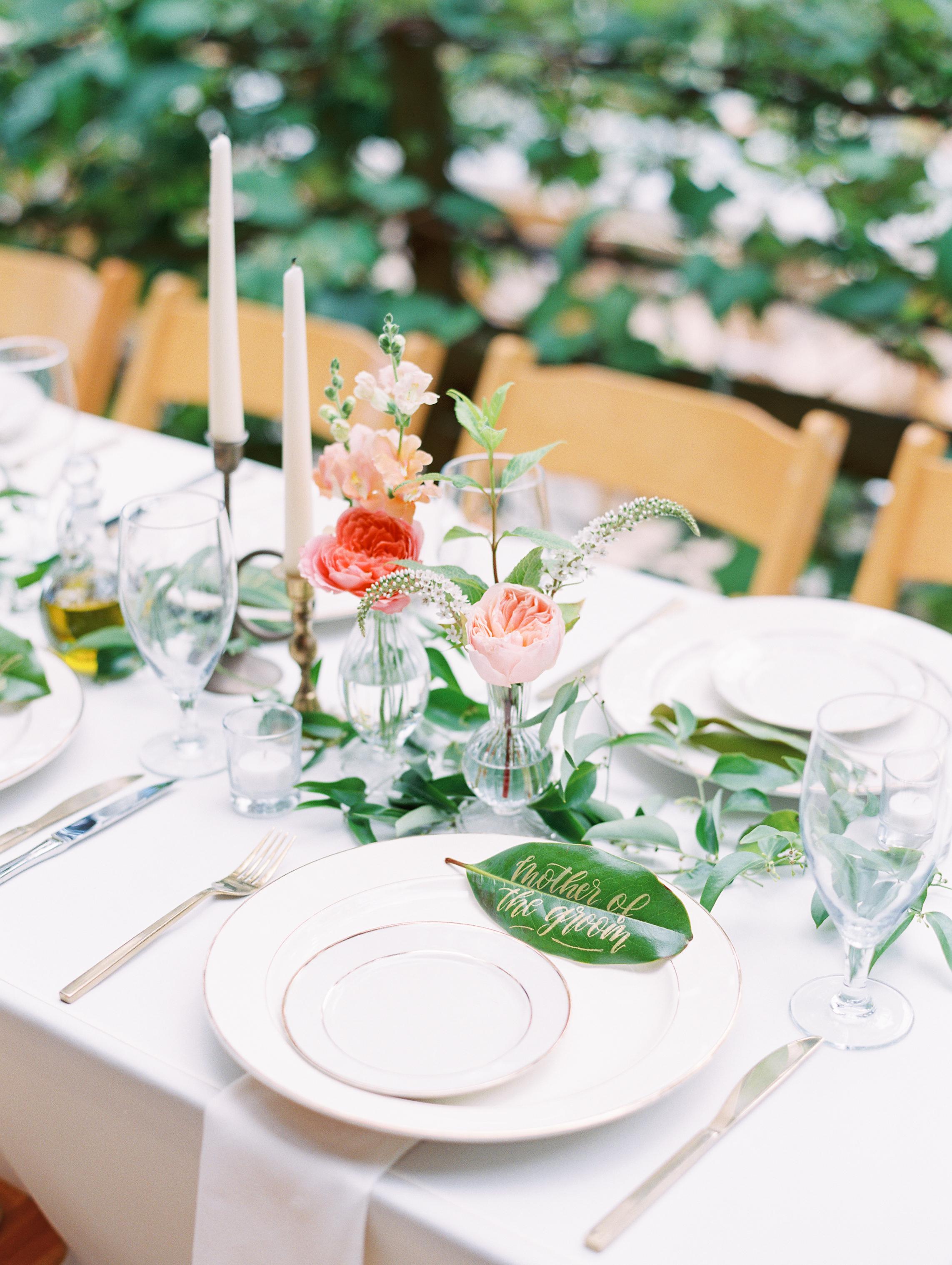 Garden Rose Cluster Centerpieces