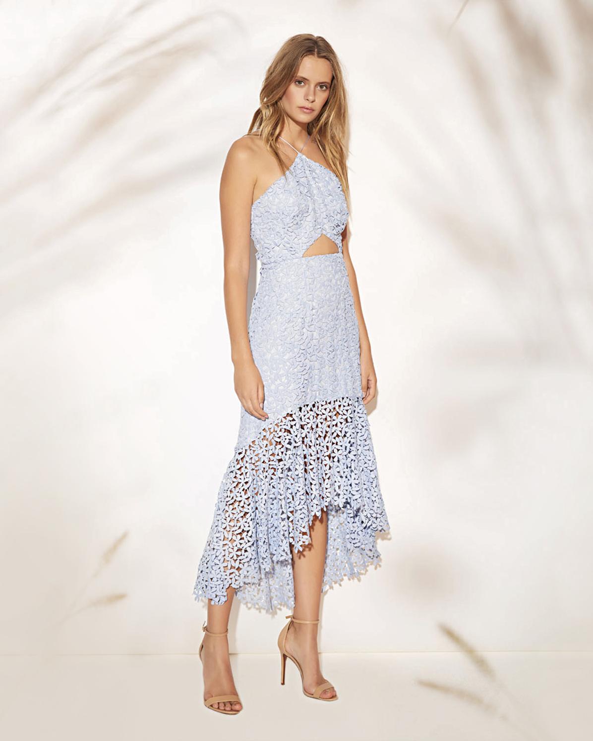 amur lara hi-low cutout dress