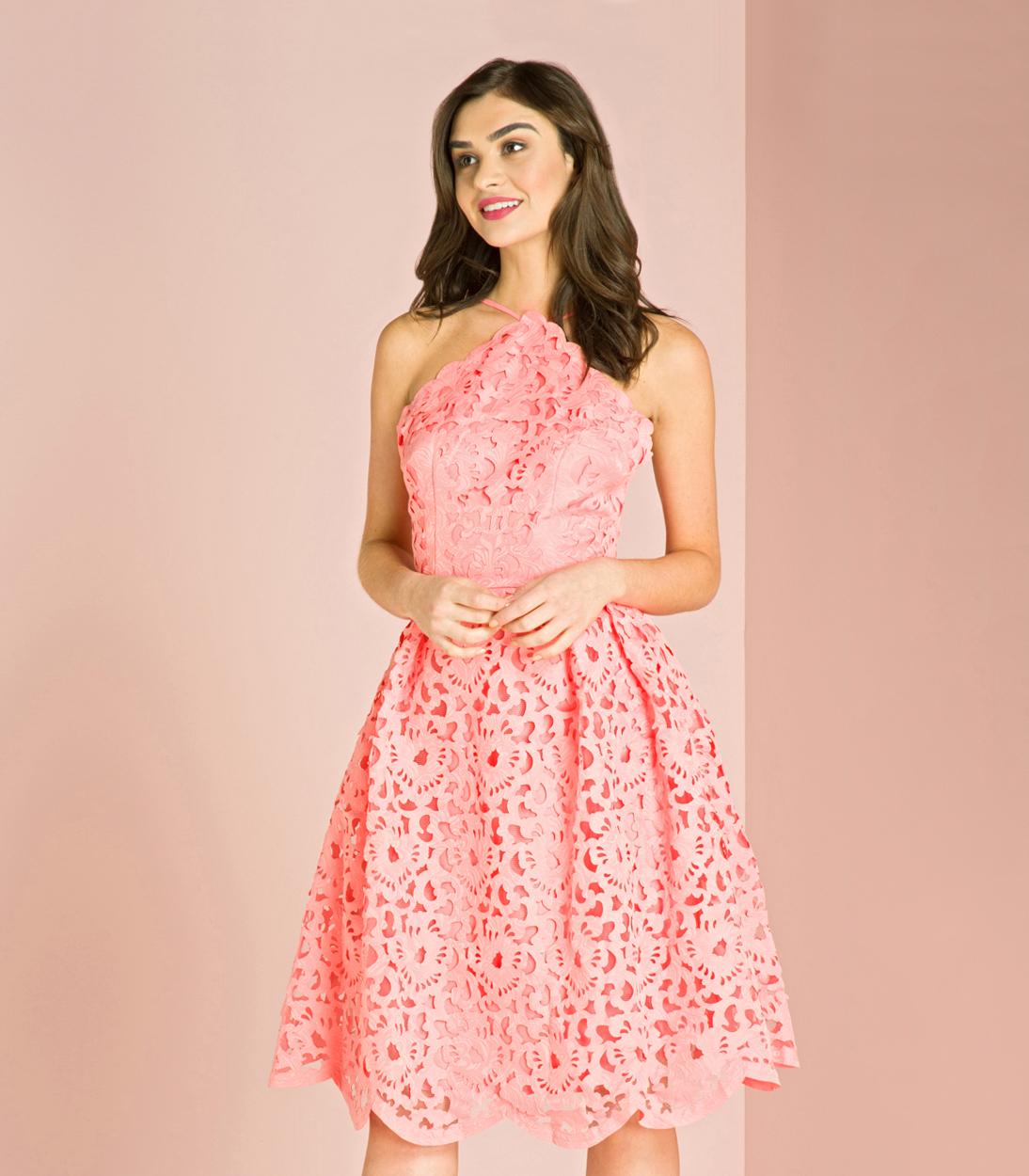 chi chi london gabriela scalloped dress