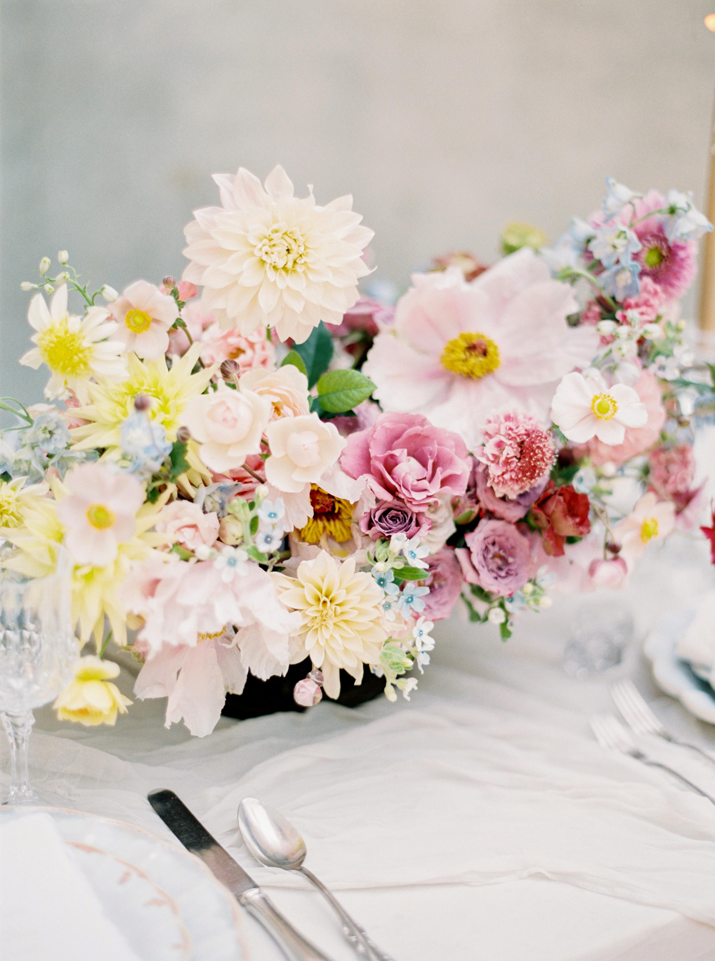summer wedding centerpieces bright bright neon floral