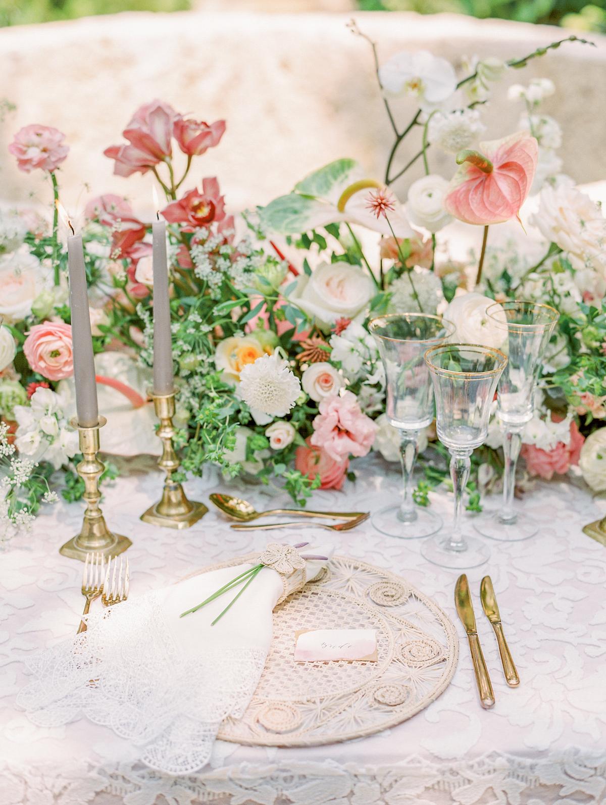 summer wedding centerpieces tropical plants