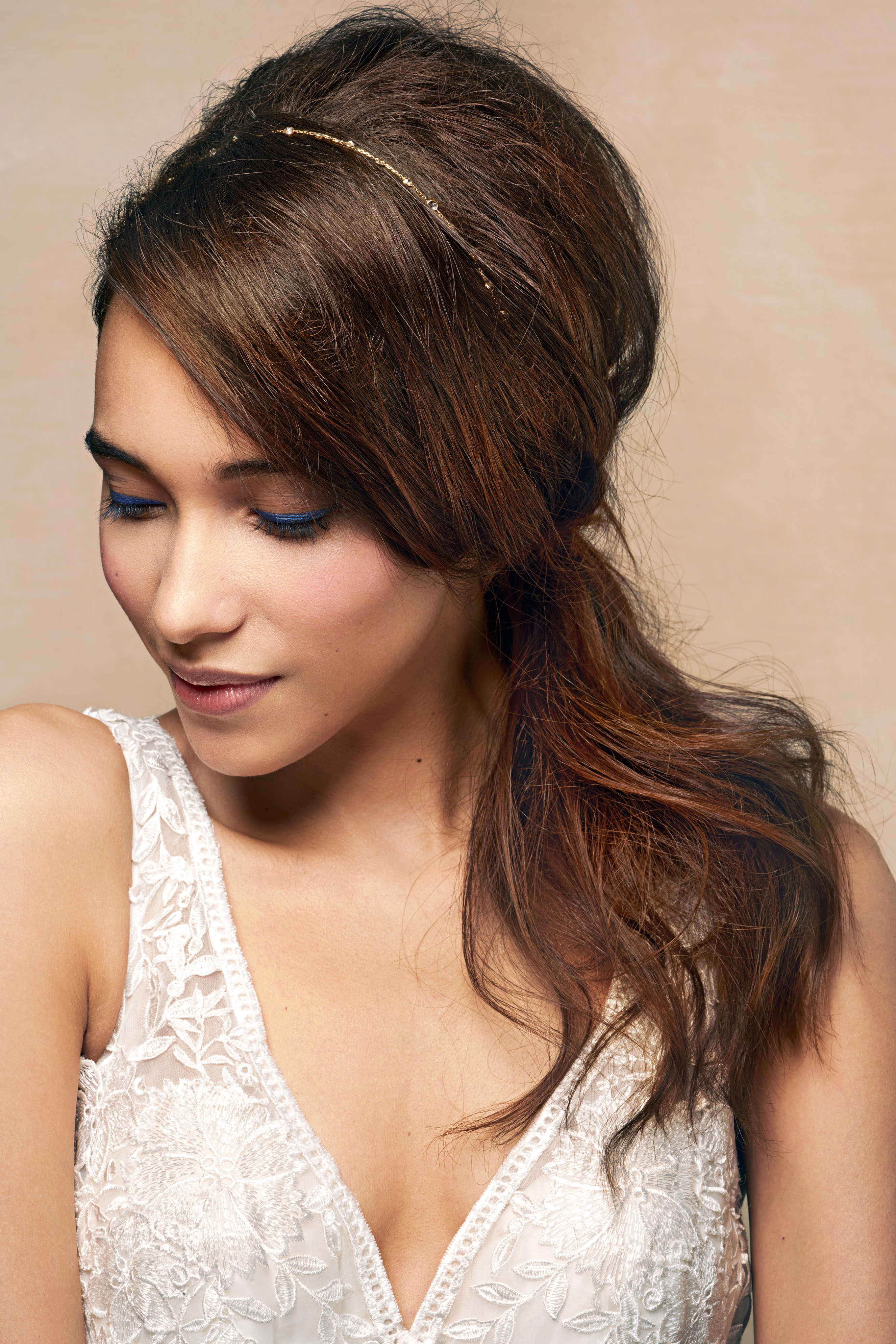 bridal side ponytail