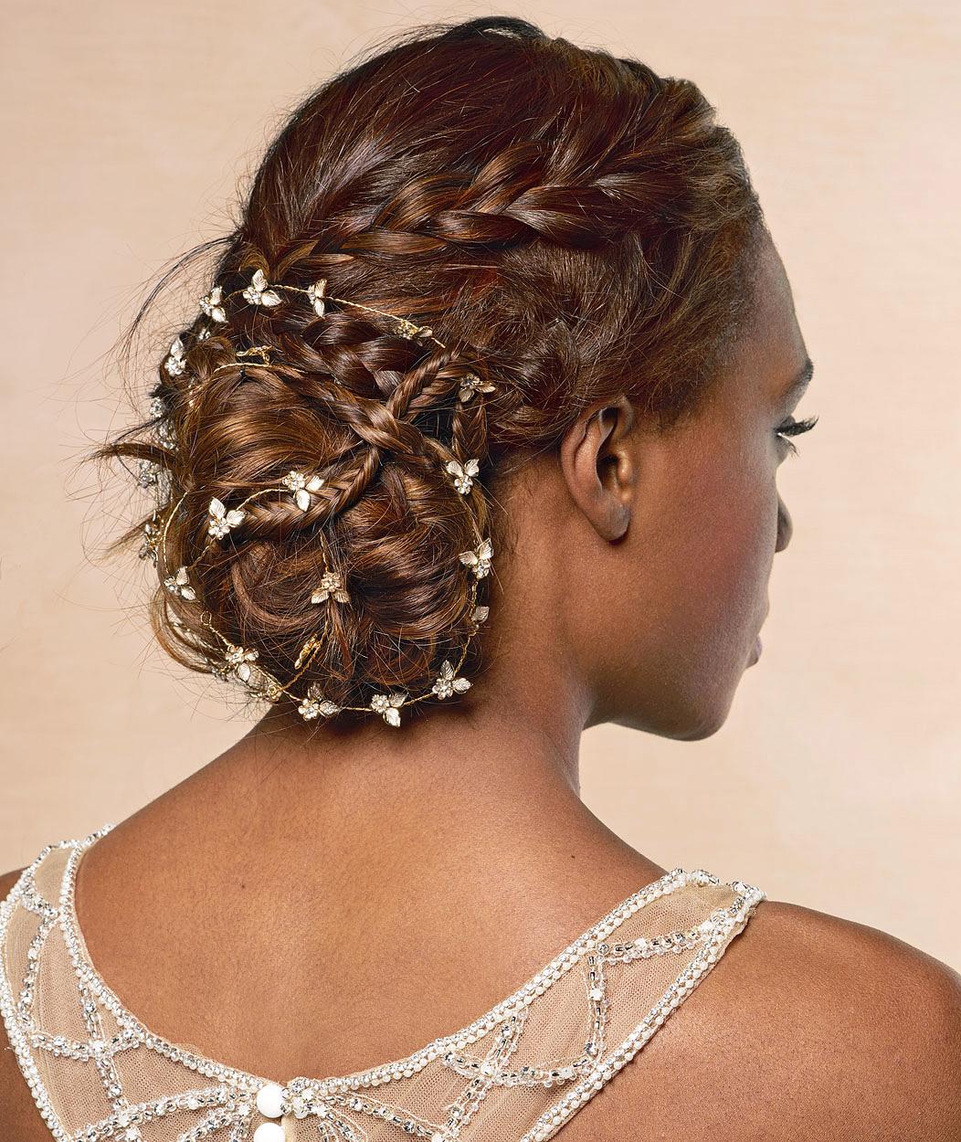 multi-braid bun hairstyle