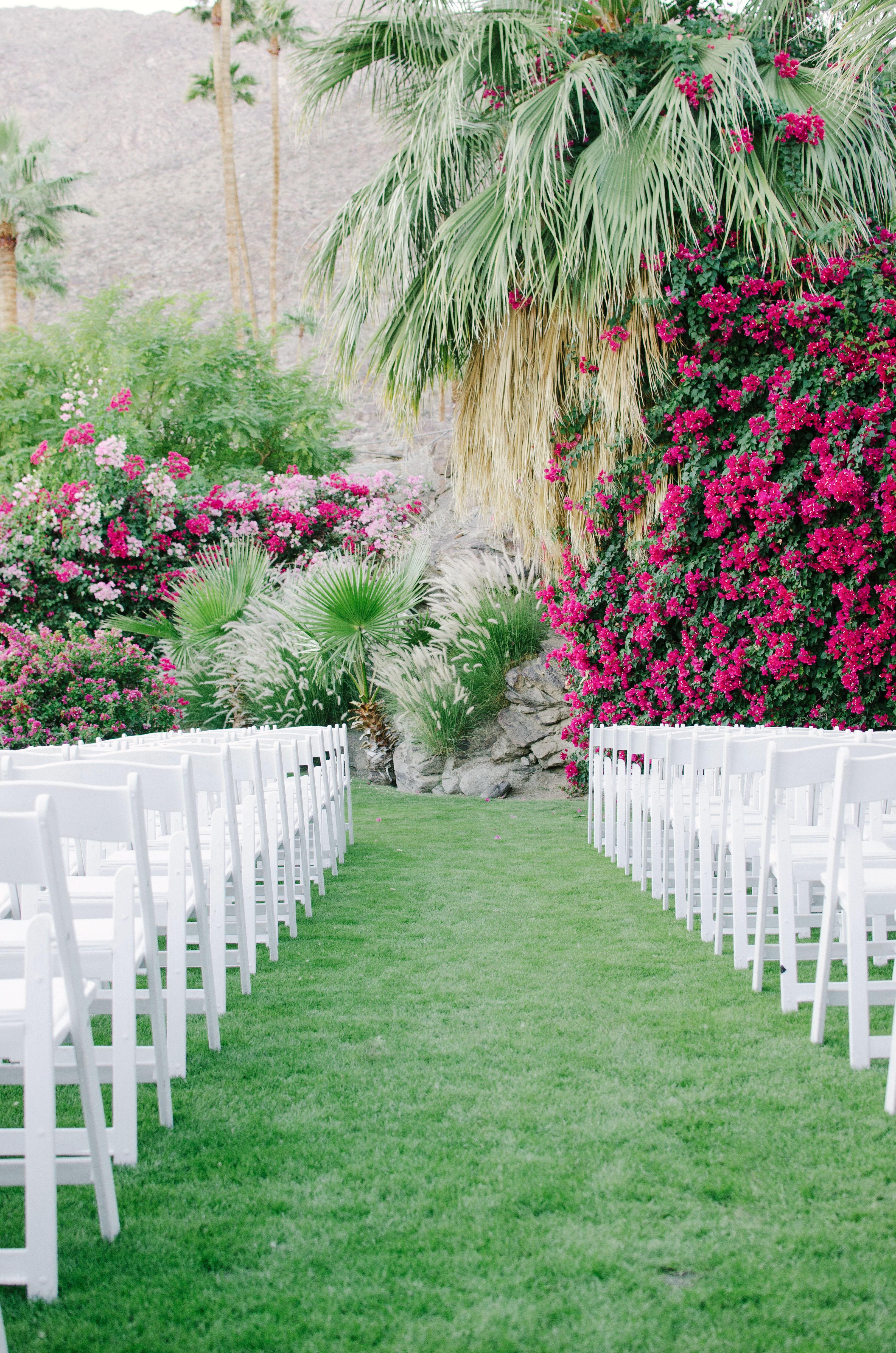 lisa louis wedding ceremony empty chairs