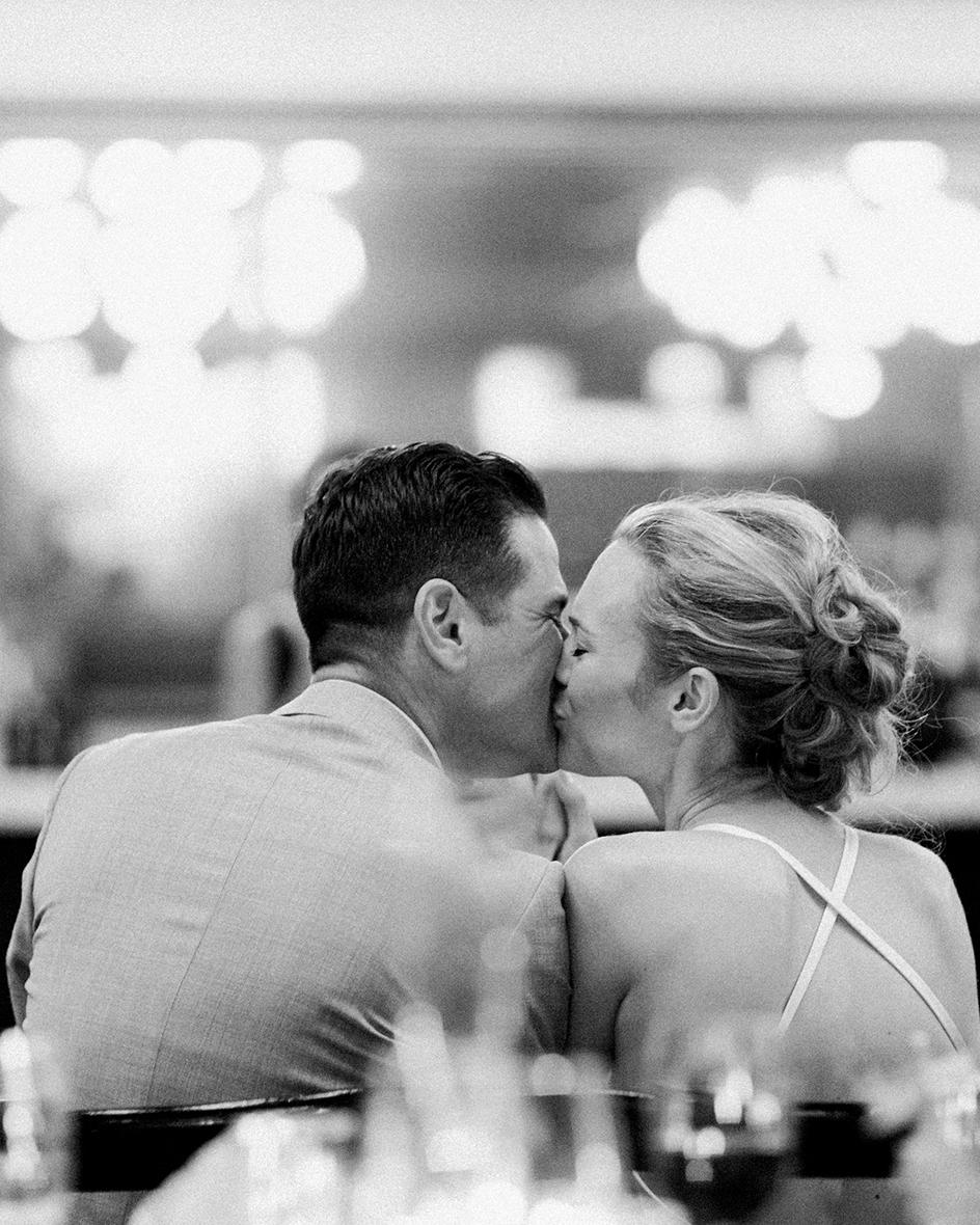 ana and damon reception kiss