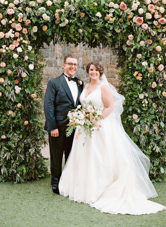 carey jared wedding couple at altar formal