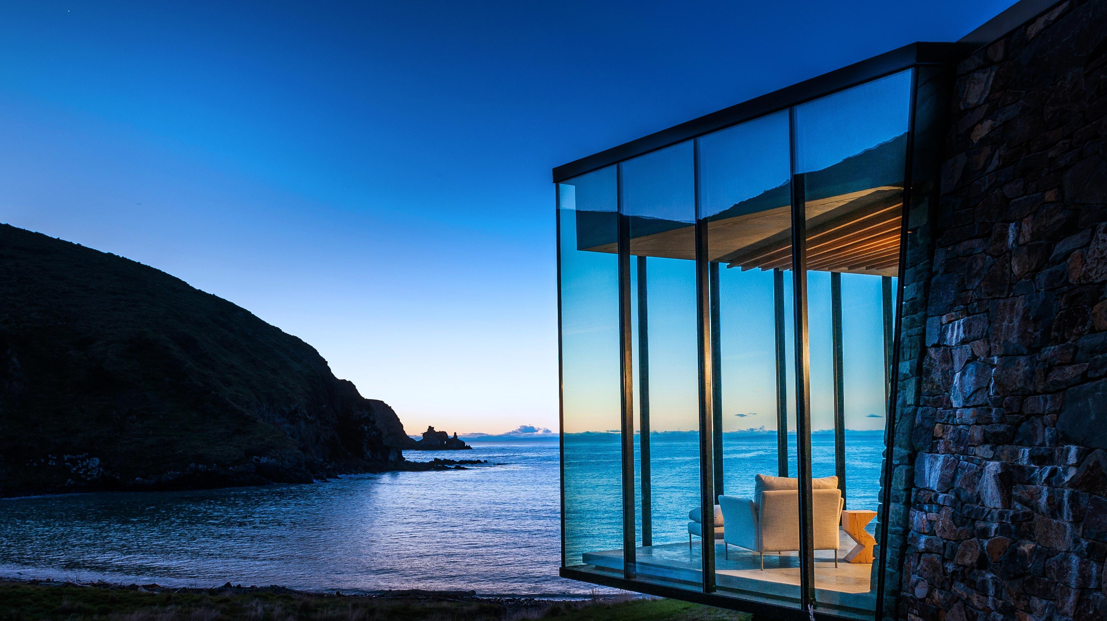 resort lounge ocean