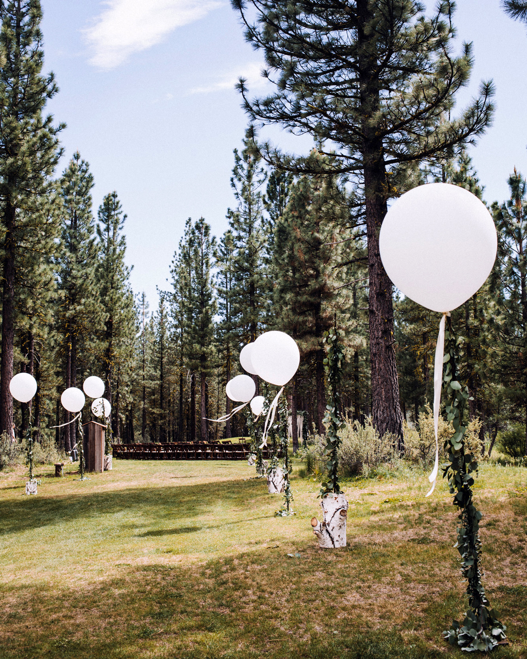 balloon lined outdoor walkway