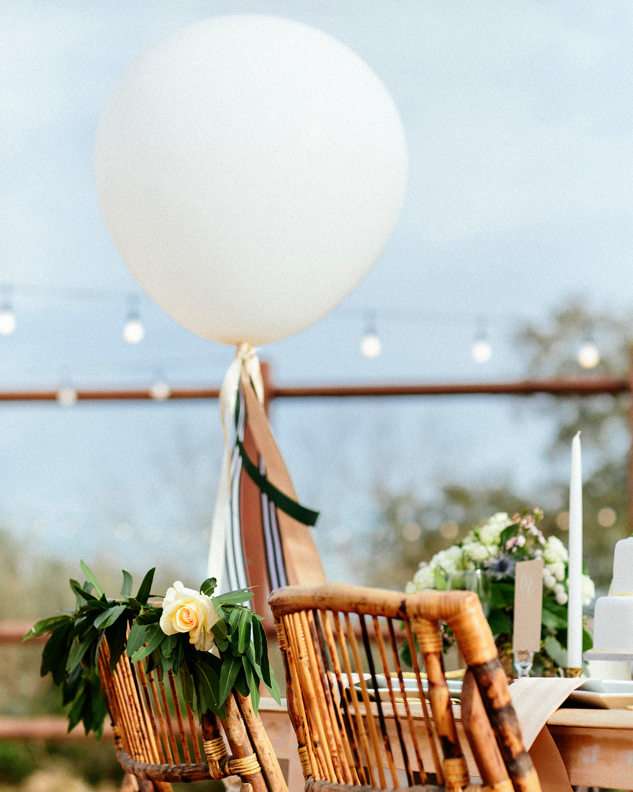floating table decor balloon accents