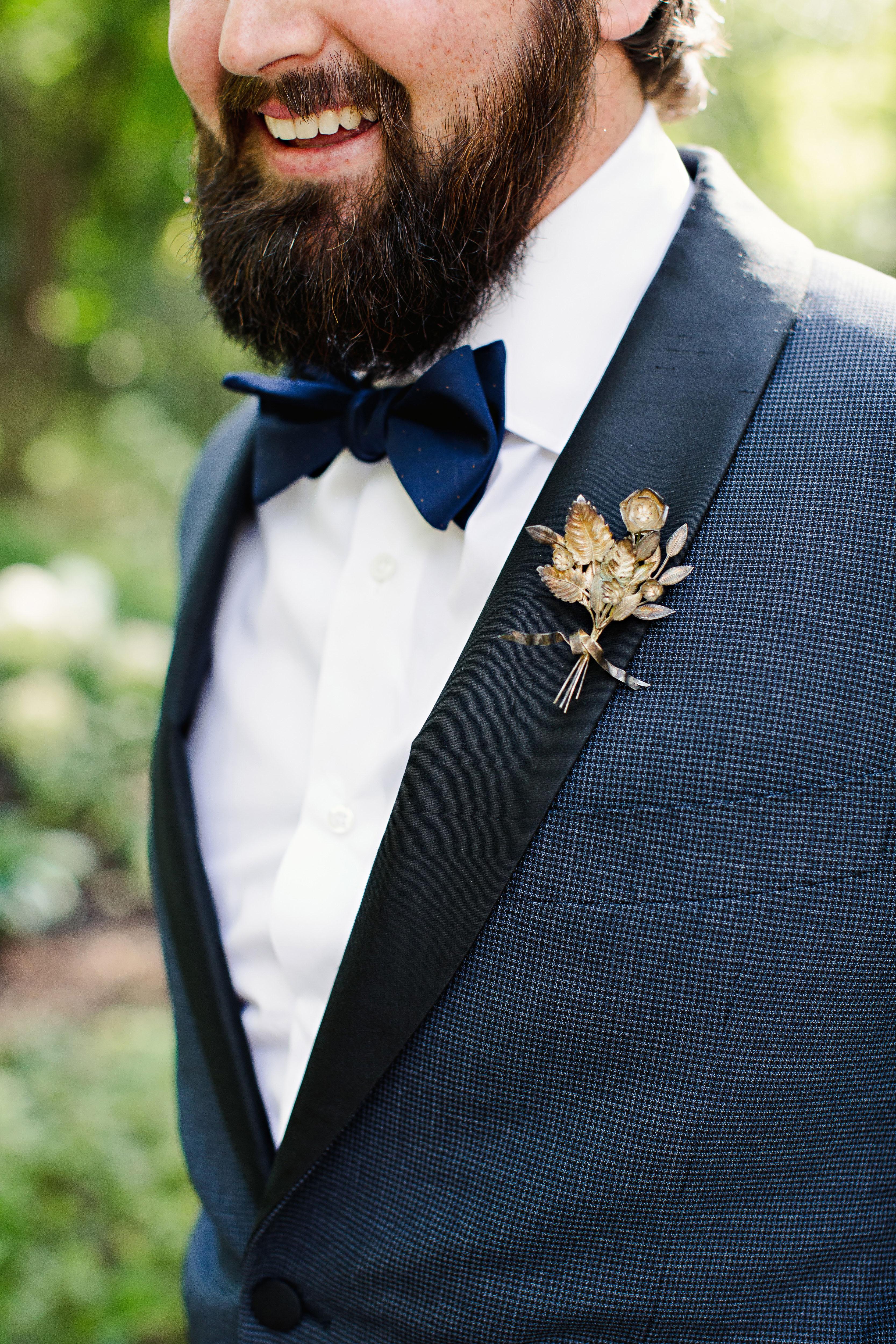 britt courtney wedding vintage boutonniere