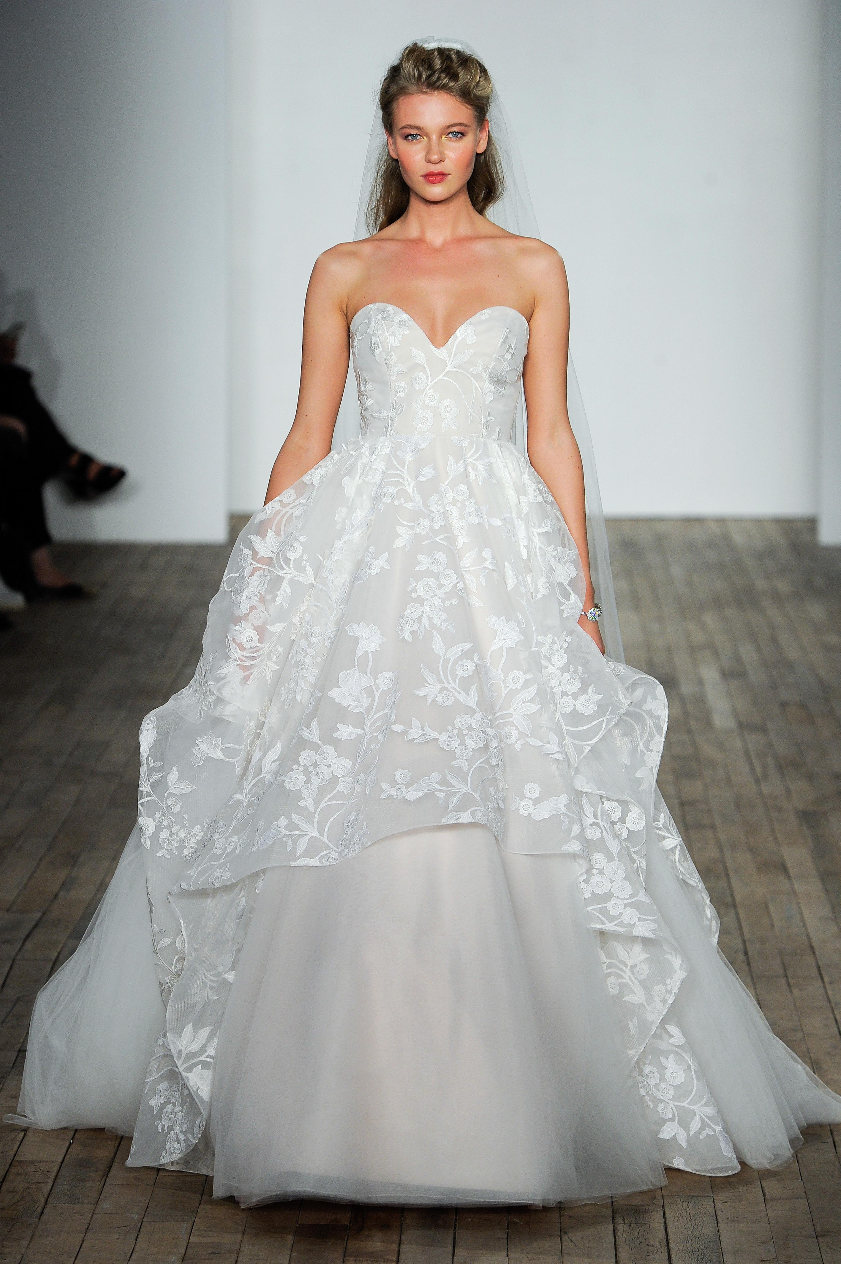 jlm blush by hayley paige wedding dress fall 2018 strapless sweetheart