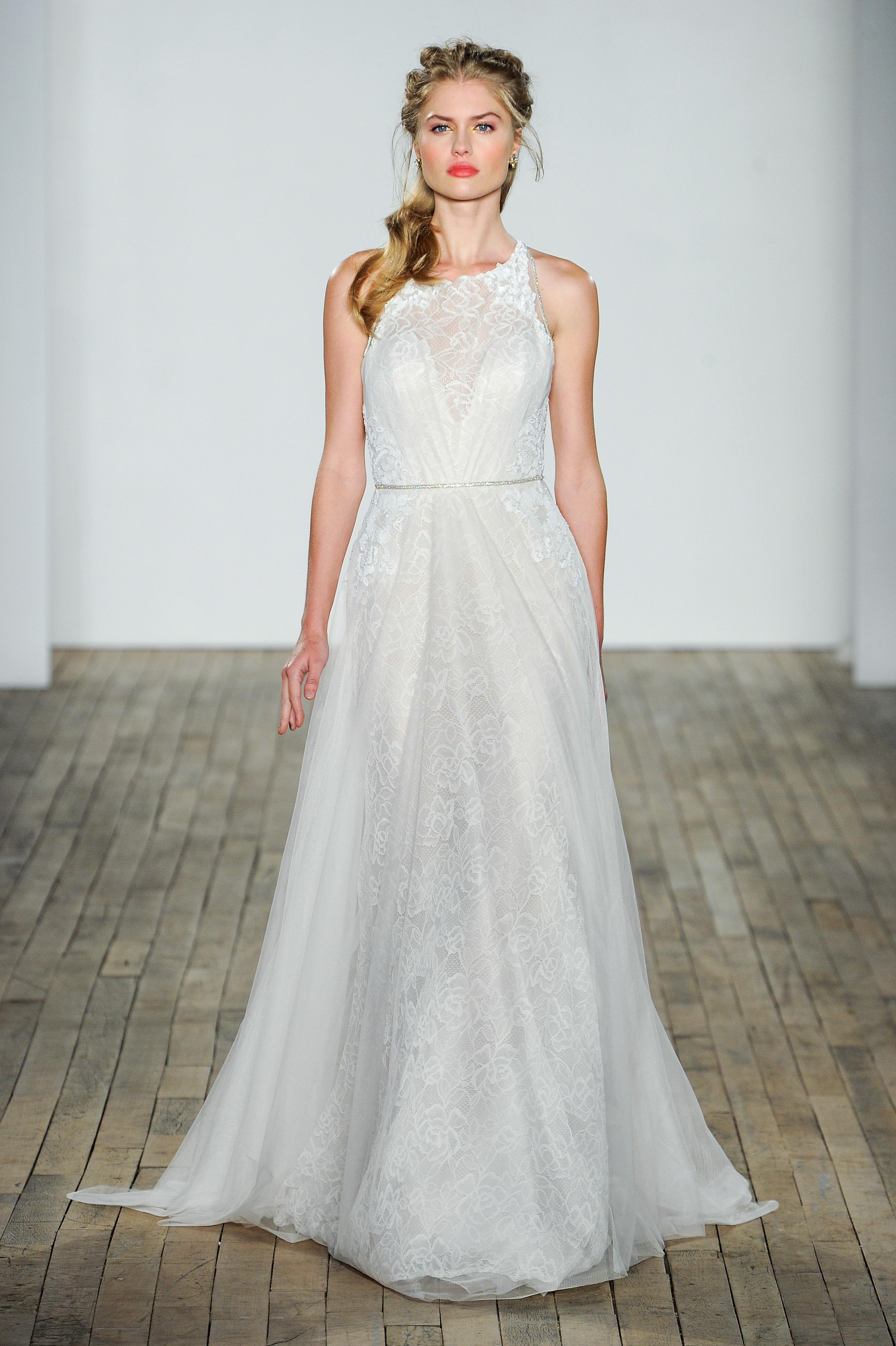 jlm blush by hayley paige wedding dress fall 2018 high neck lace